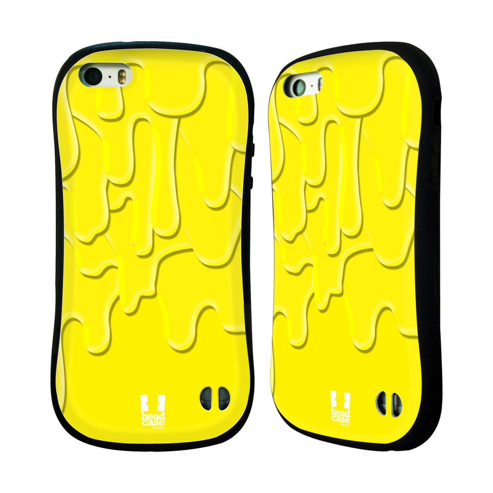 HEAD CASE silikon plast odolný obal na mobil Apple Iphone 5 5S vzor Barevná  záplava žlutá 54cb8f1b574