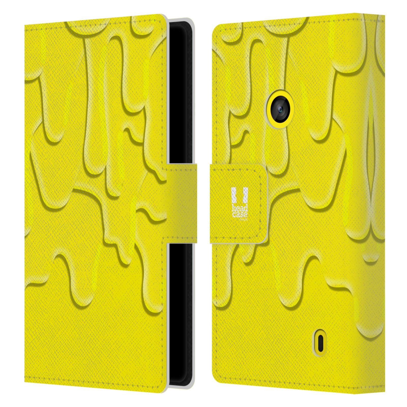 HEAD CASE Flipové pouzdro pro mobil NOKIA LUMIA 520 / 525 ZÁPLAVA BARVA žlutá