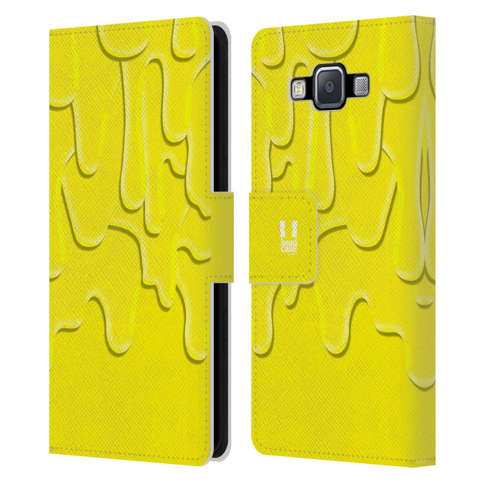 HEAD CASE Flipové pouzdro pro mobil Samsung Galaxy A5 ZÁPLAVA BARVA žlutá