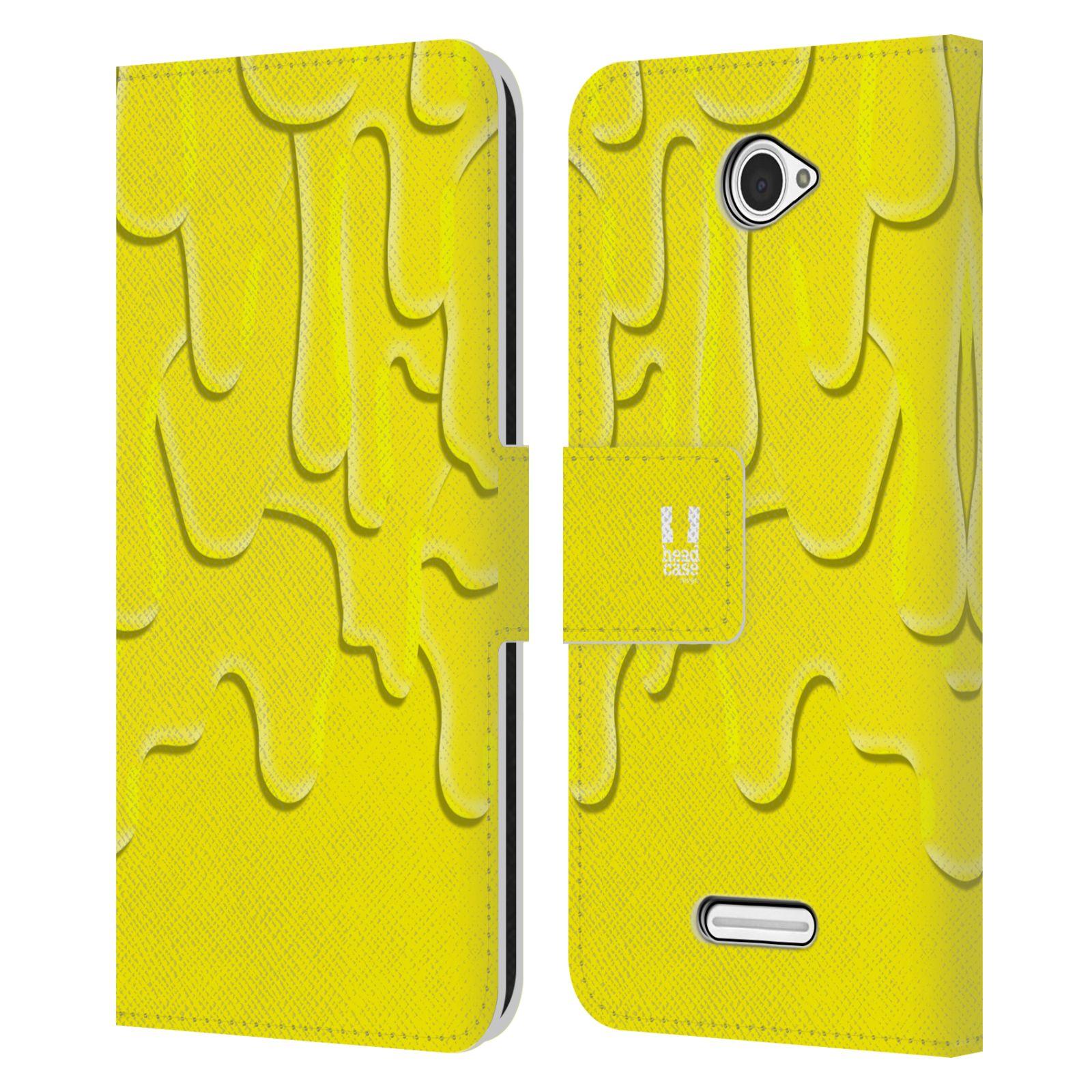 HEAD CASE Flipové pouzdro pro mobil SONY XPERIA E4 ZÁPLAVA BARVA žlutá
