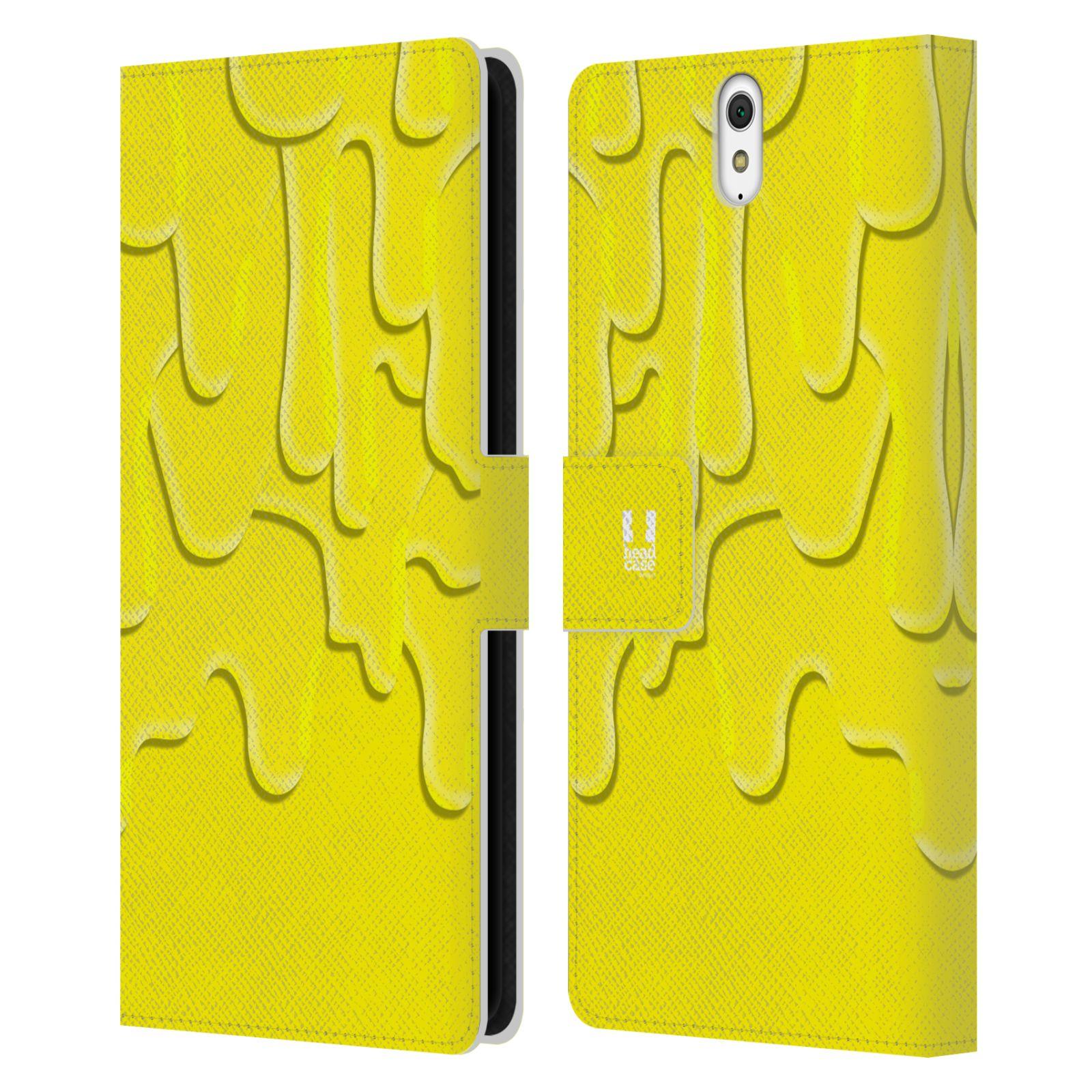 HEAD CASE Flipové pouzdro pro mobil SONY XPERIA C5 Ultra ZÁPLAVA BARVA žlutá