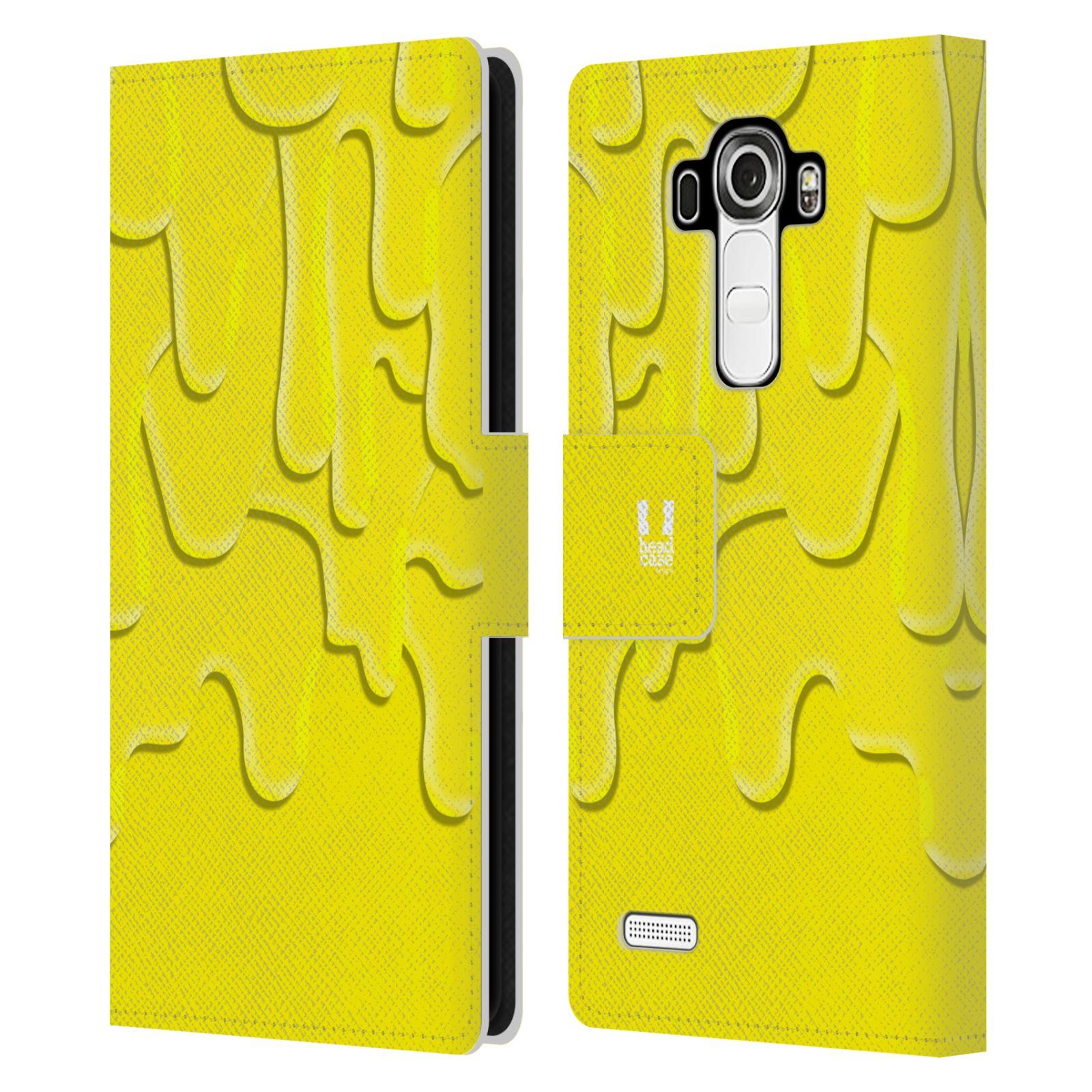 HEAD CASE Flipové pouzdro pro mobil LG G4 (H815) ZÁPLAVA BARVA žlutá