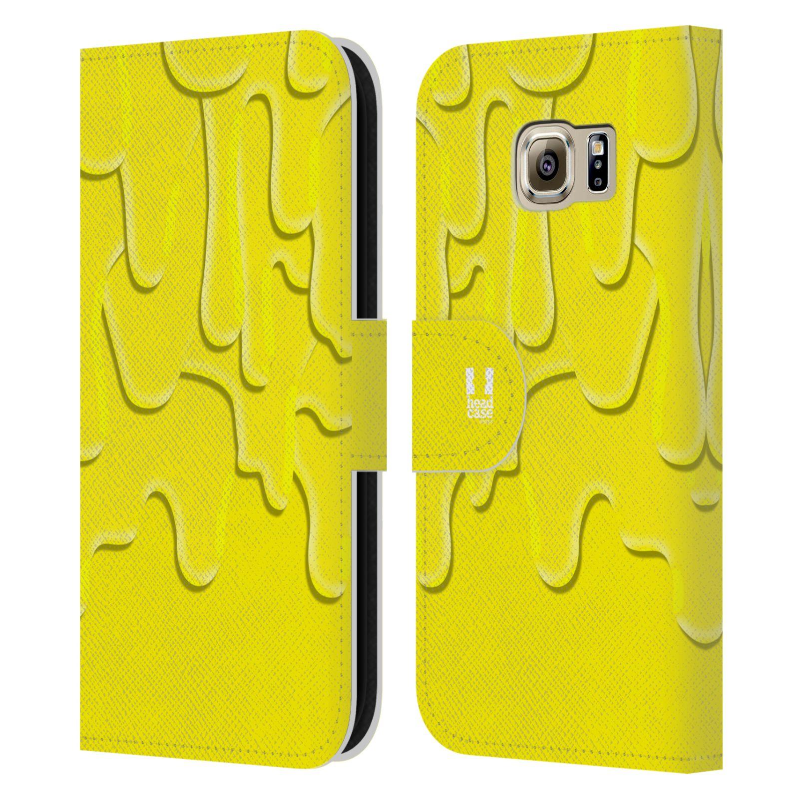 HEAD CASE Flipové pouzdro pro mobil Samsung Galaxy S6 (G9200) ZÁPLAVA BARVA žlutá