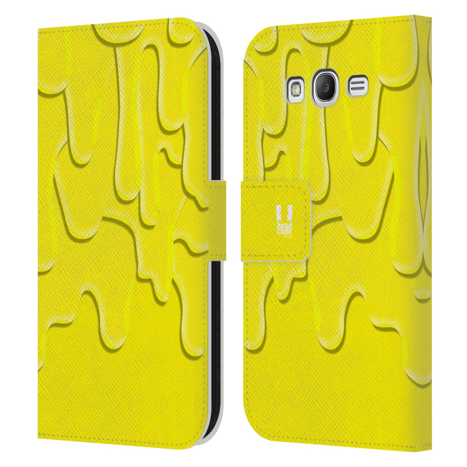HEAD CASE Flipové pouzdro pro mobil Samsung Galaxy Grand i9080 ZÁPLAVA BARVA žlutá