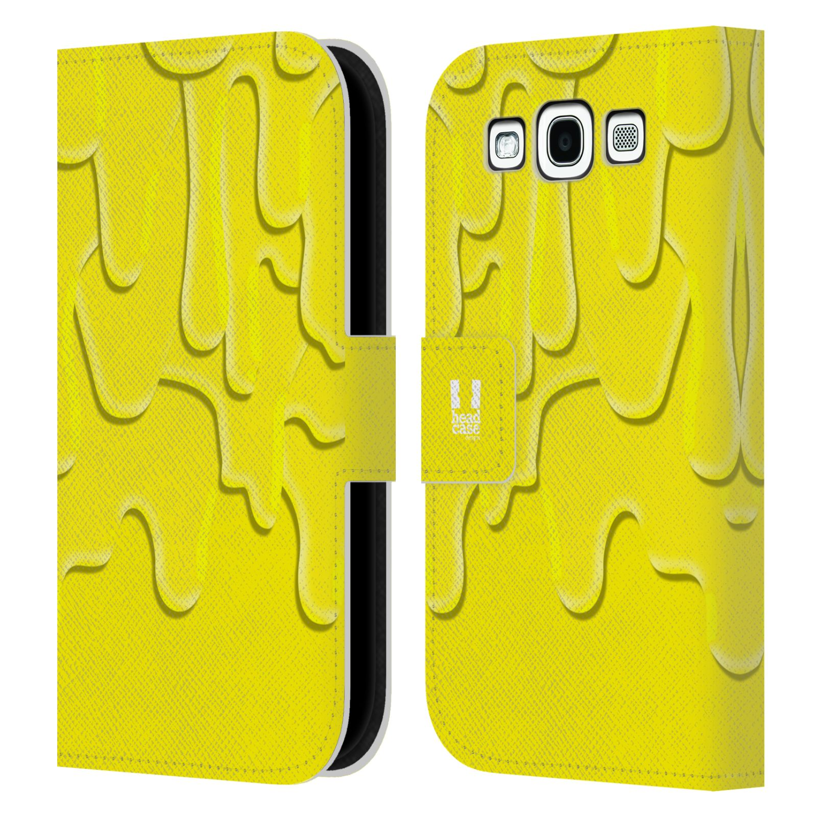 HEAD CASE Flipové pouzdro pro mobil Samsung Galaxy S3 ZÁPLAVA BARVA žlutá