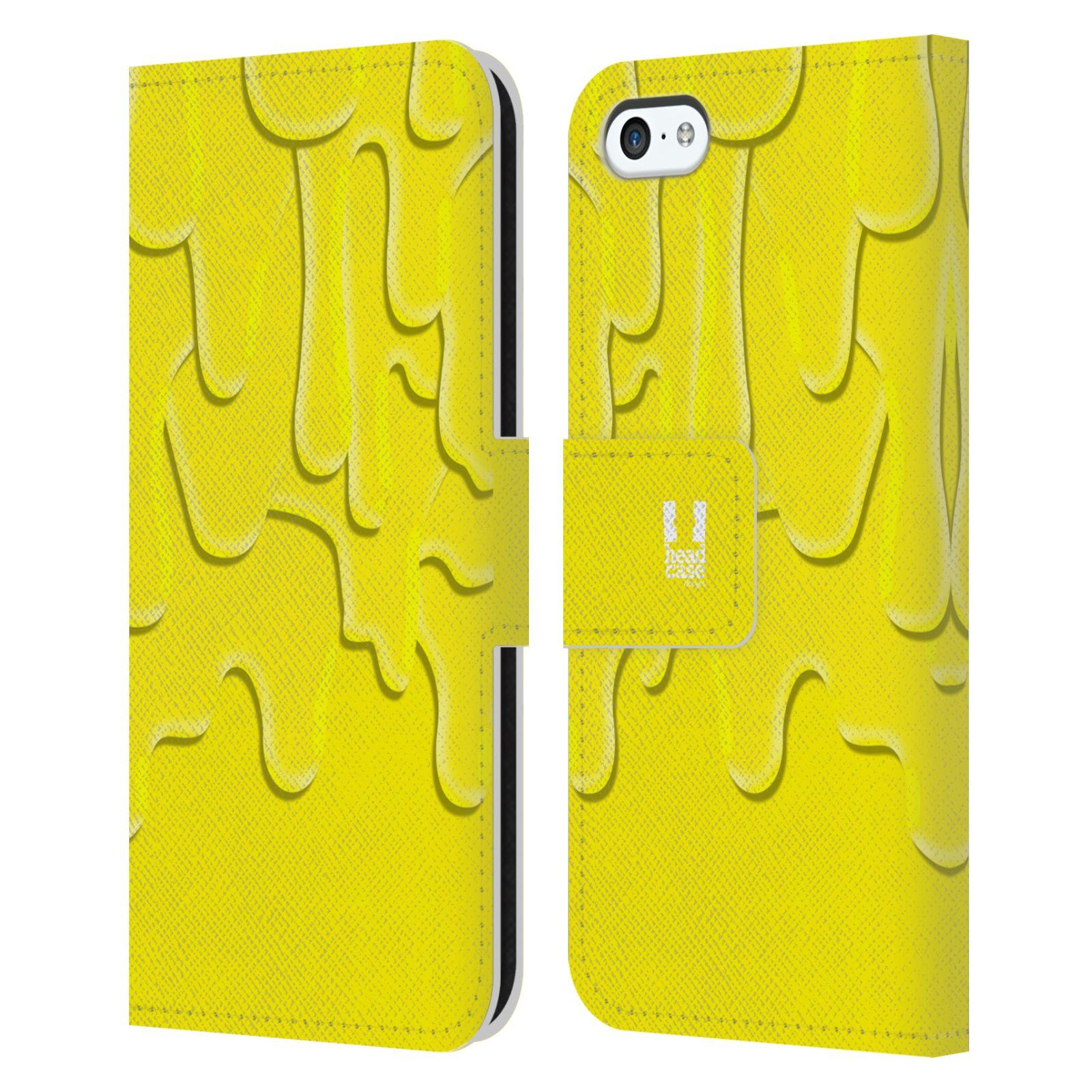 HEAD CASE Flipové pouzdro pro mobil Apple Iphone 5C ZÁPLAVA BARVA žlutá