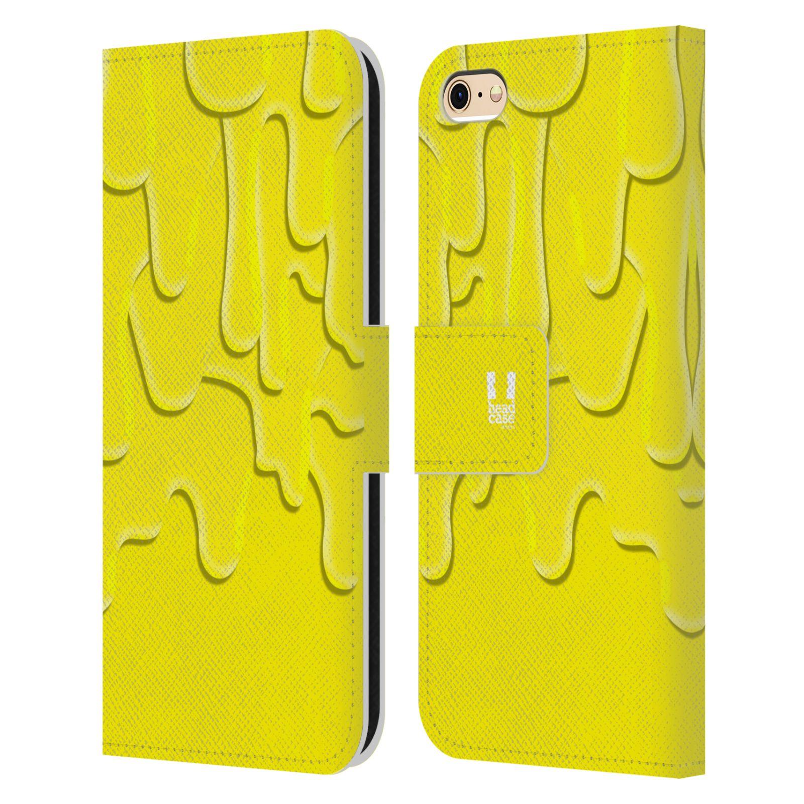 HEAD CASE Flipové pouzdro pro mobil Apple Iphone 6/6s ZÁPLAVA BARVA žlutá