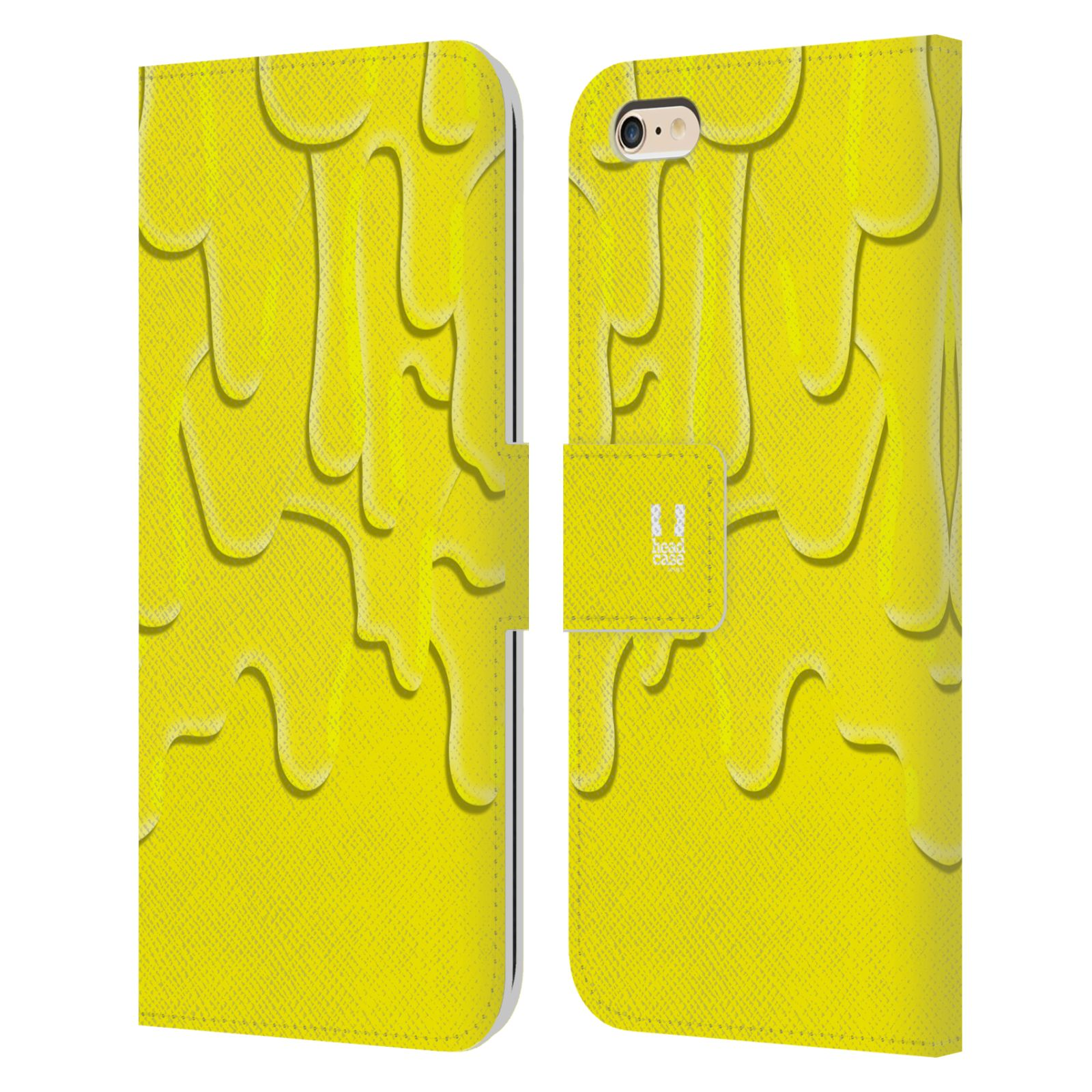 HEAD CASE Flipové pouzdro pro mobil Apple Iphone 6 PLUS / 6S PLUS ZÁPLAVA BARVA žlutá