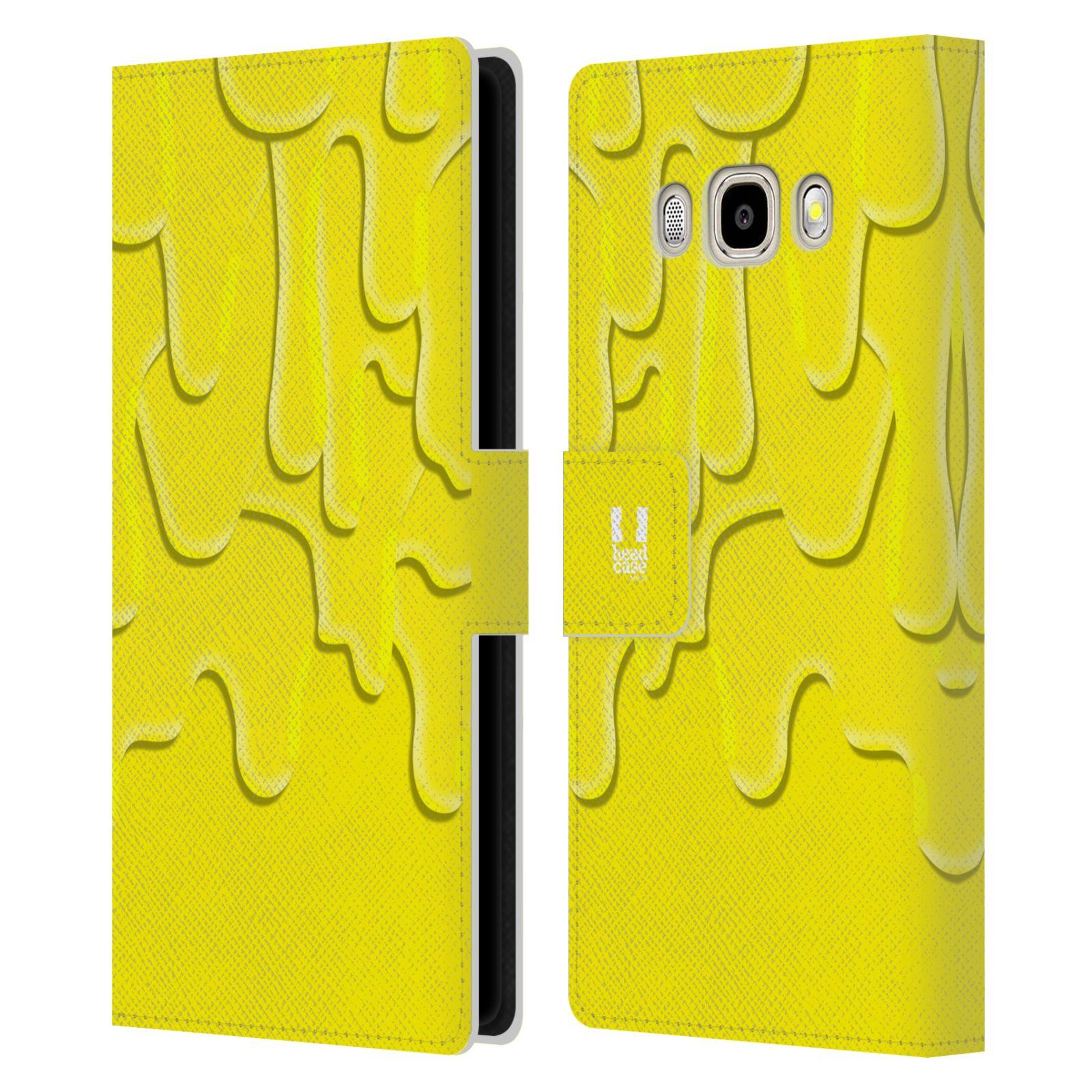 HEAD CASE Flipové pouzdro pro mobil Samsung Galaxy J5 2016 ZÁPLAVA BARVA žlutá