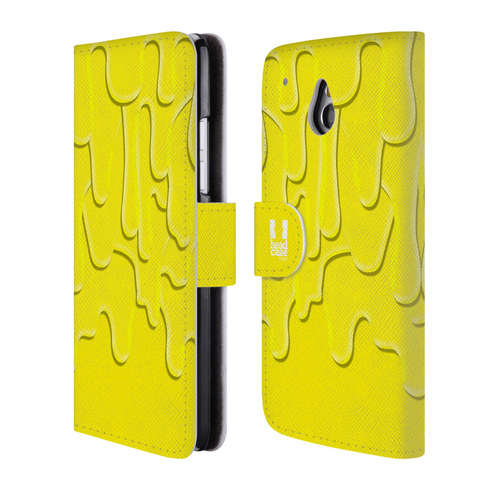 HEAD CASE Flipové pouzdro pro mobil HTC ONE MINI (M4) ZÁPLAVA BARVA žlutá