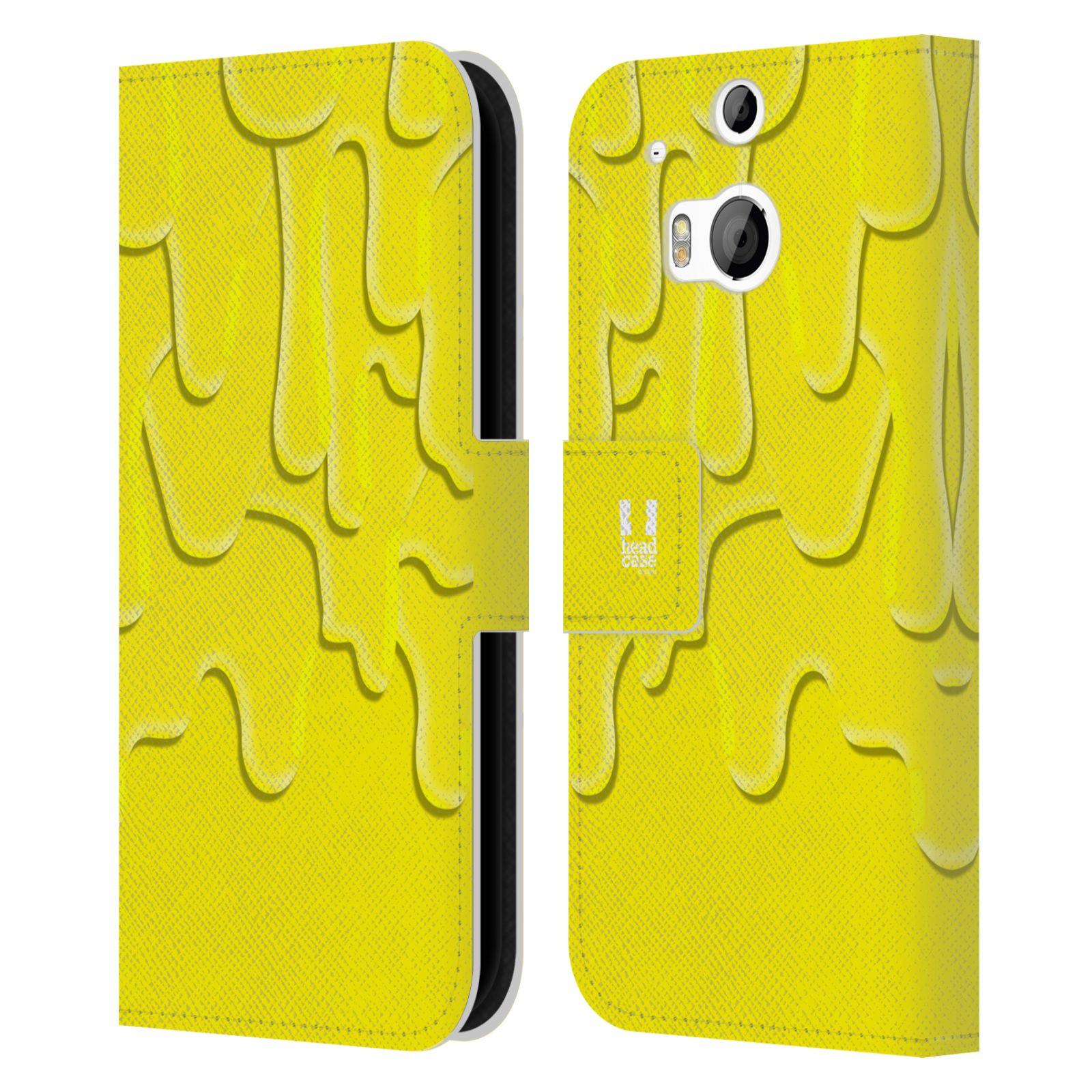 HEAD CASE Flipové pouzdro pro mobil HTC ONE (M8, M8s) ZÁPLAVA BARVA žlutá