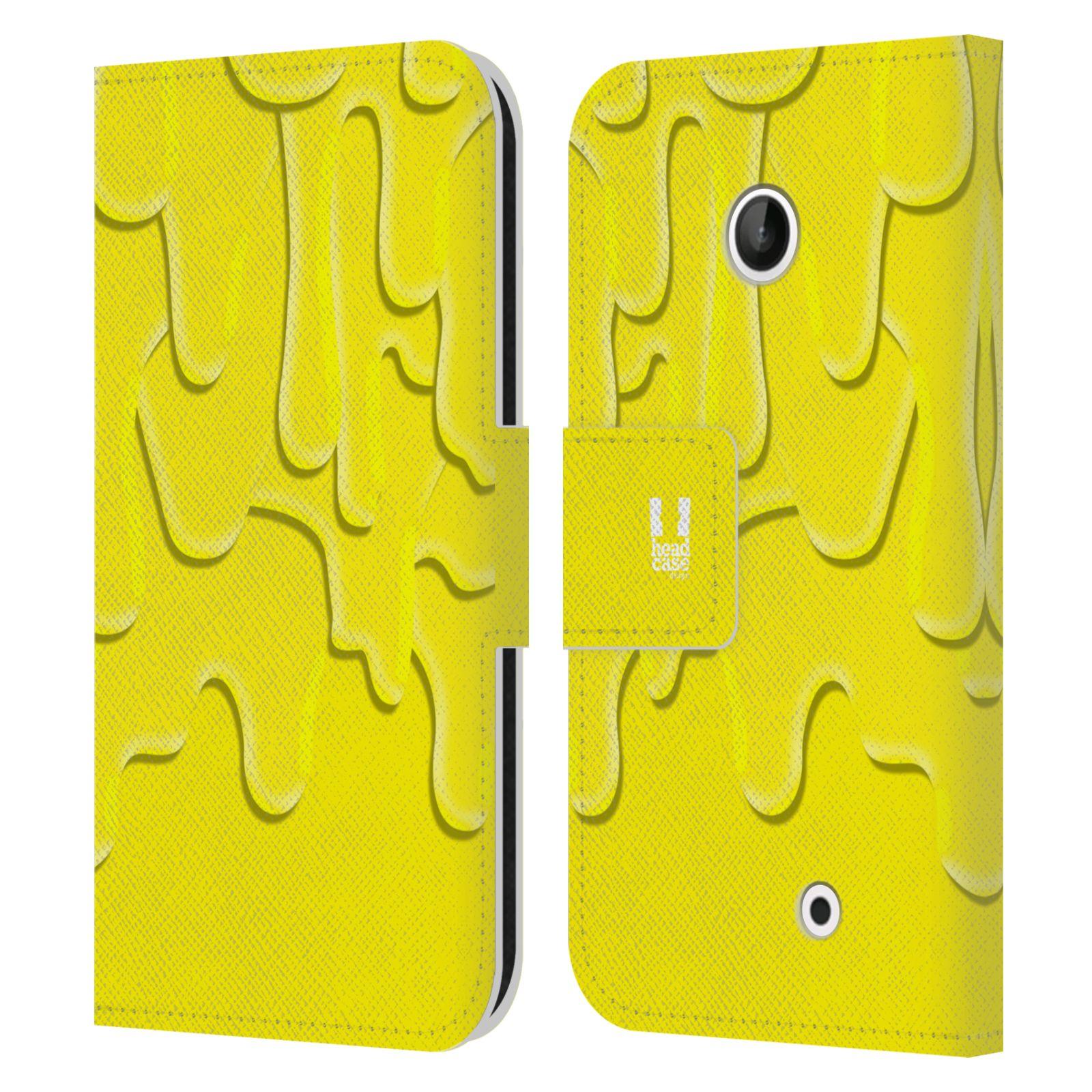 HEAD CASE Flipové pouzdro pro mobil NOKIA LUMIA 630 / LUMIA 630 DUAL ZÁPLAVA BARVA žlutá