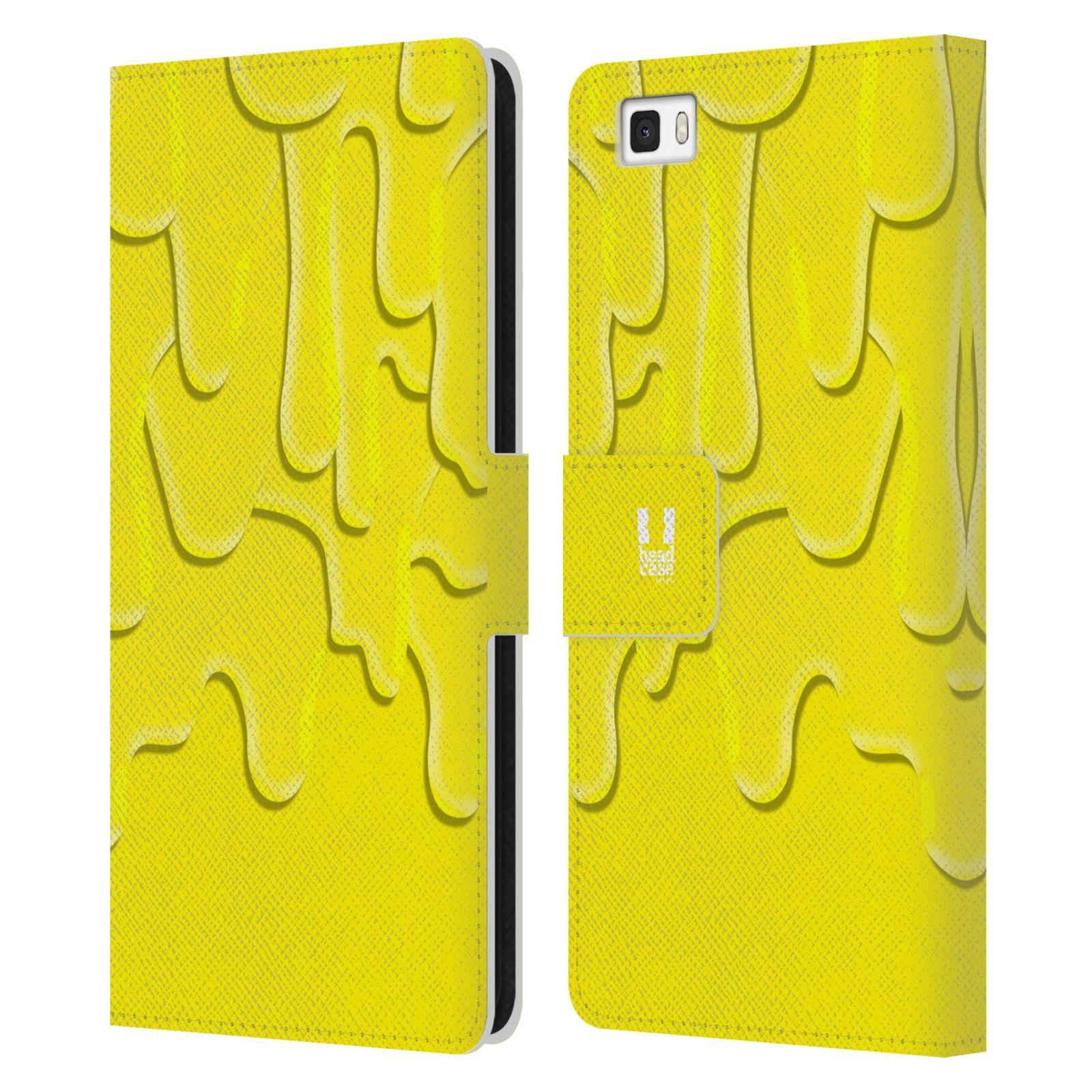 HEAD CASE Flipové pouzdro pro mobil Huawei P8 LITE ZÁPLAVA BARVA žlutá