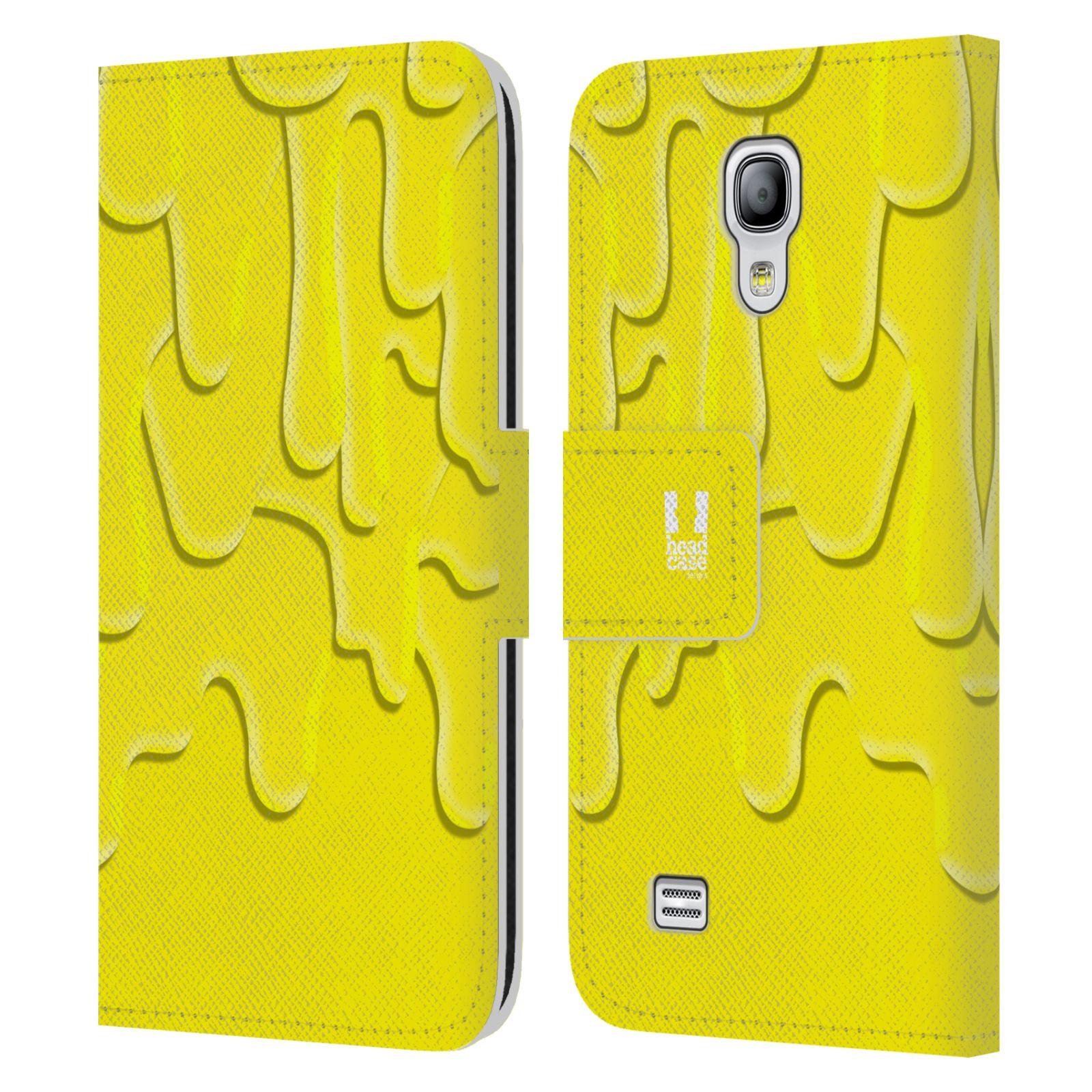 HEAD CASE Flipové pouzdro pro mobil Samsung Galaxy S4 MINI / S4 MINI DUOS ZÁPLAVA BARVA žlutá
