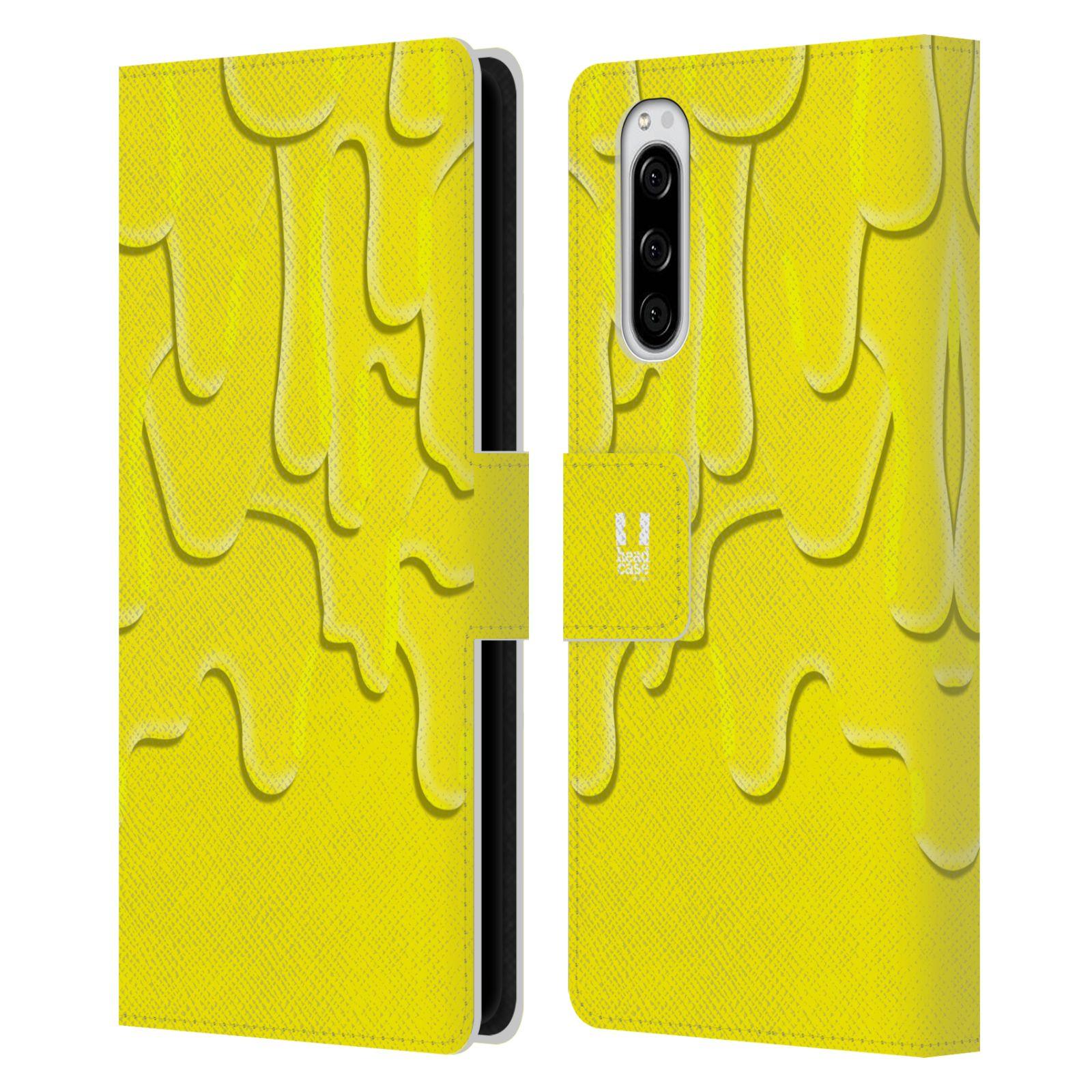 Pouzdro na mobil Sony Xperia 5 ZÁPLAVA BARVA žlutá