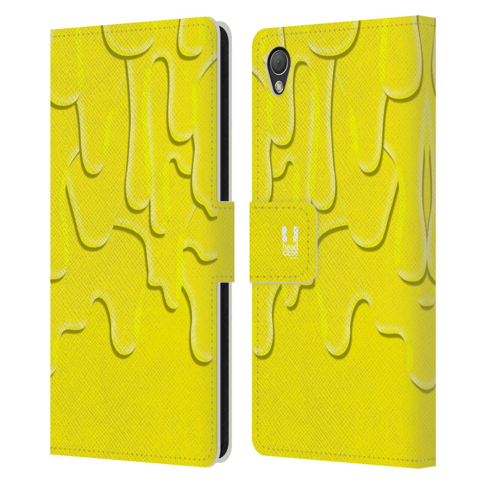 HEAD CASE Flipové pouzdro pro mobil SONY XPERIA Z3 ZÁPLAVA BARVA žlutá