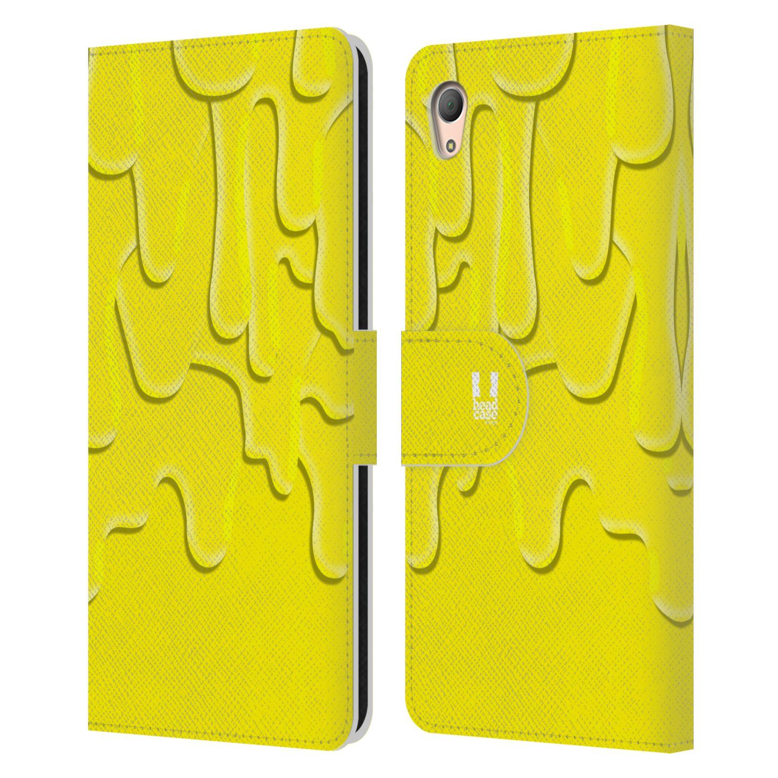 HEAD CASE Flipové pouzdro pro mobil SONY XPERIA Z3+ (PLUS) ZÁPLAVA BARVA žlutá