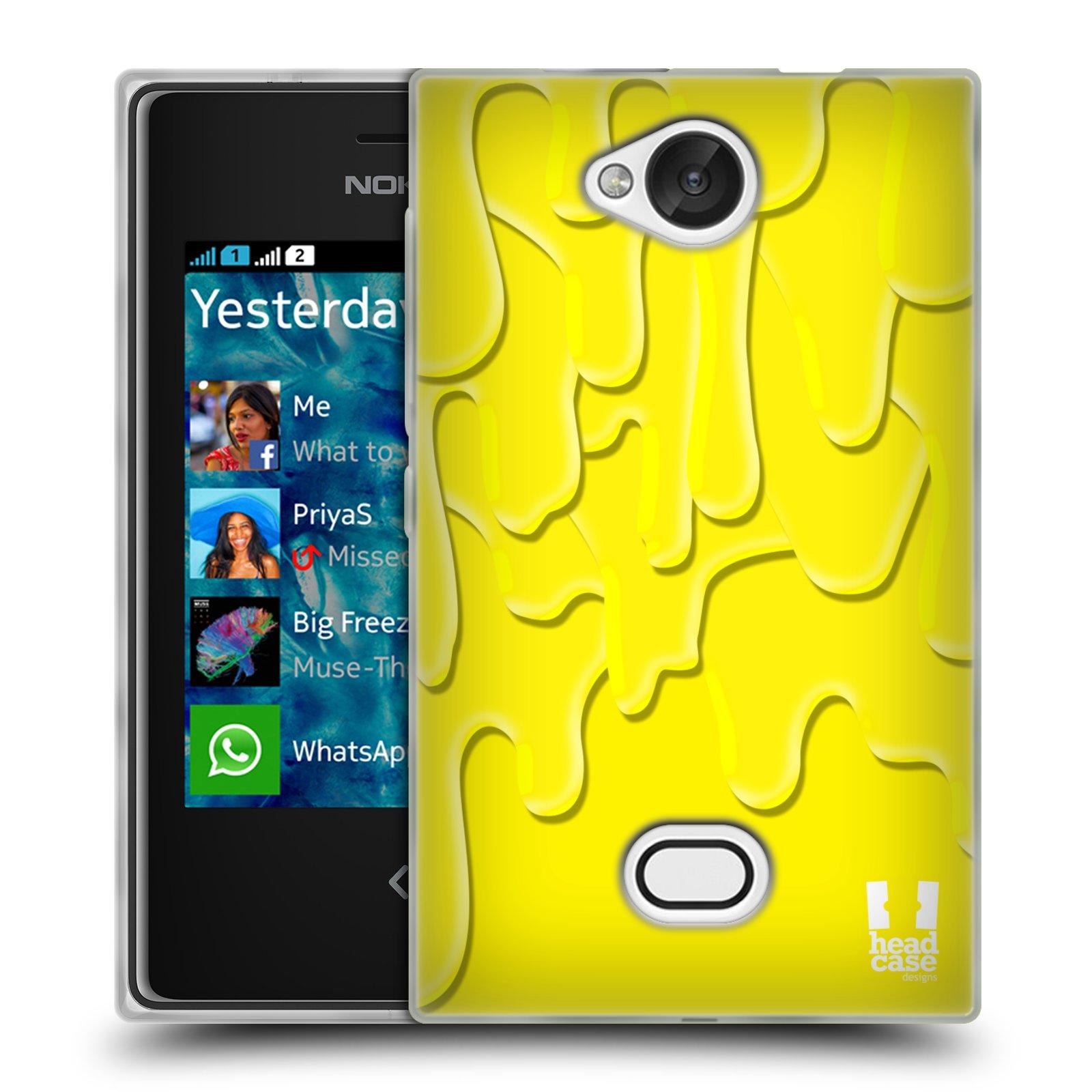 HEAD CASE silikonový obal na mobil NOKIA Asha 503 vzor Barevná záplava žlutá