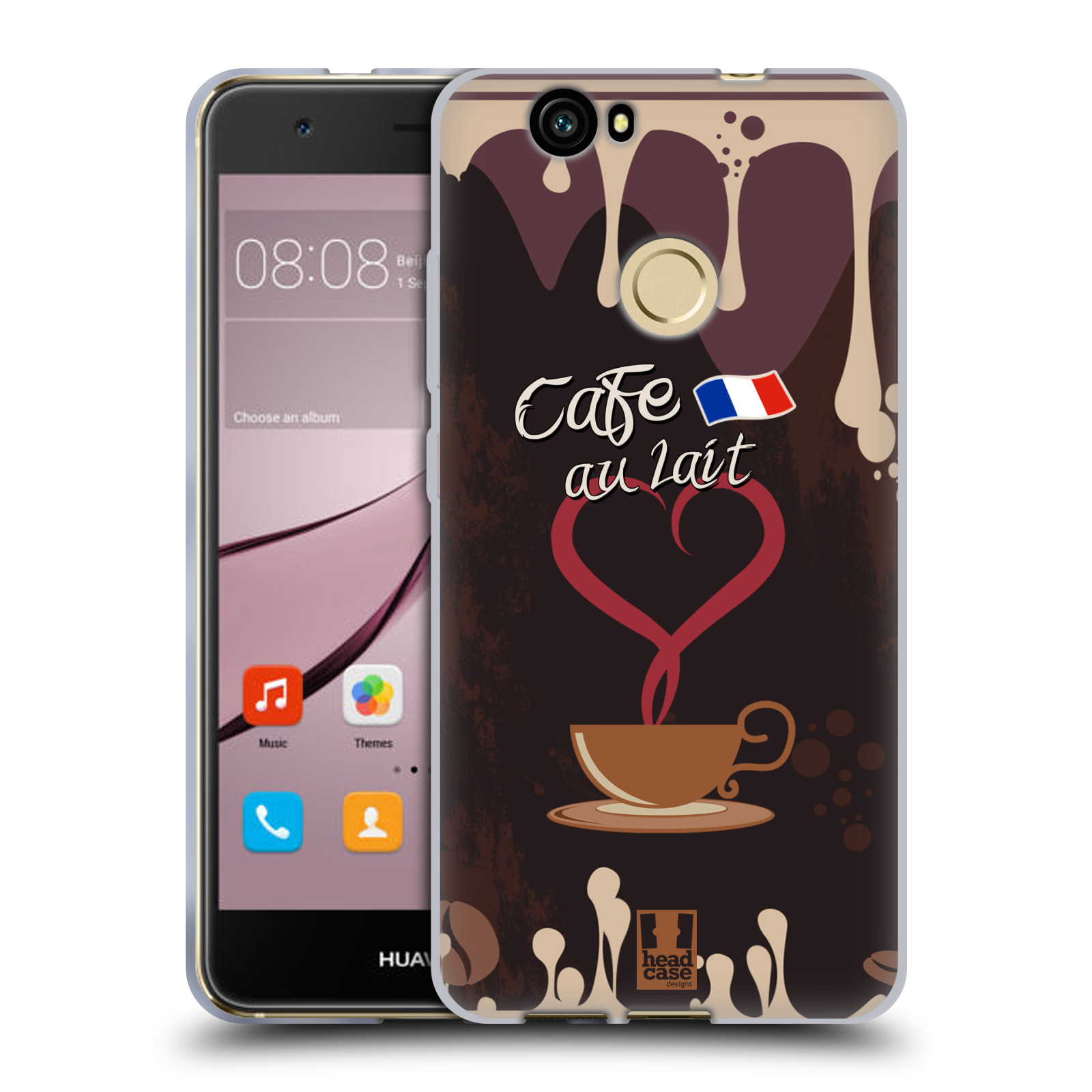 HEAD-CASE-DESIGNS-COFFEE-ADDICT-COVER-MORBIDA-IN-GEL-PER-HUAWEI-NOVA