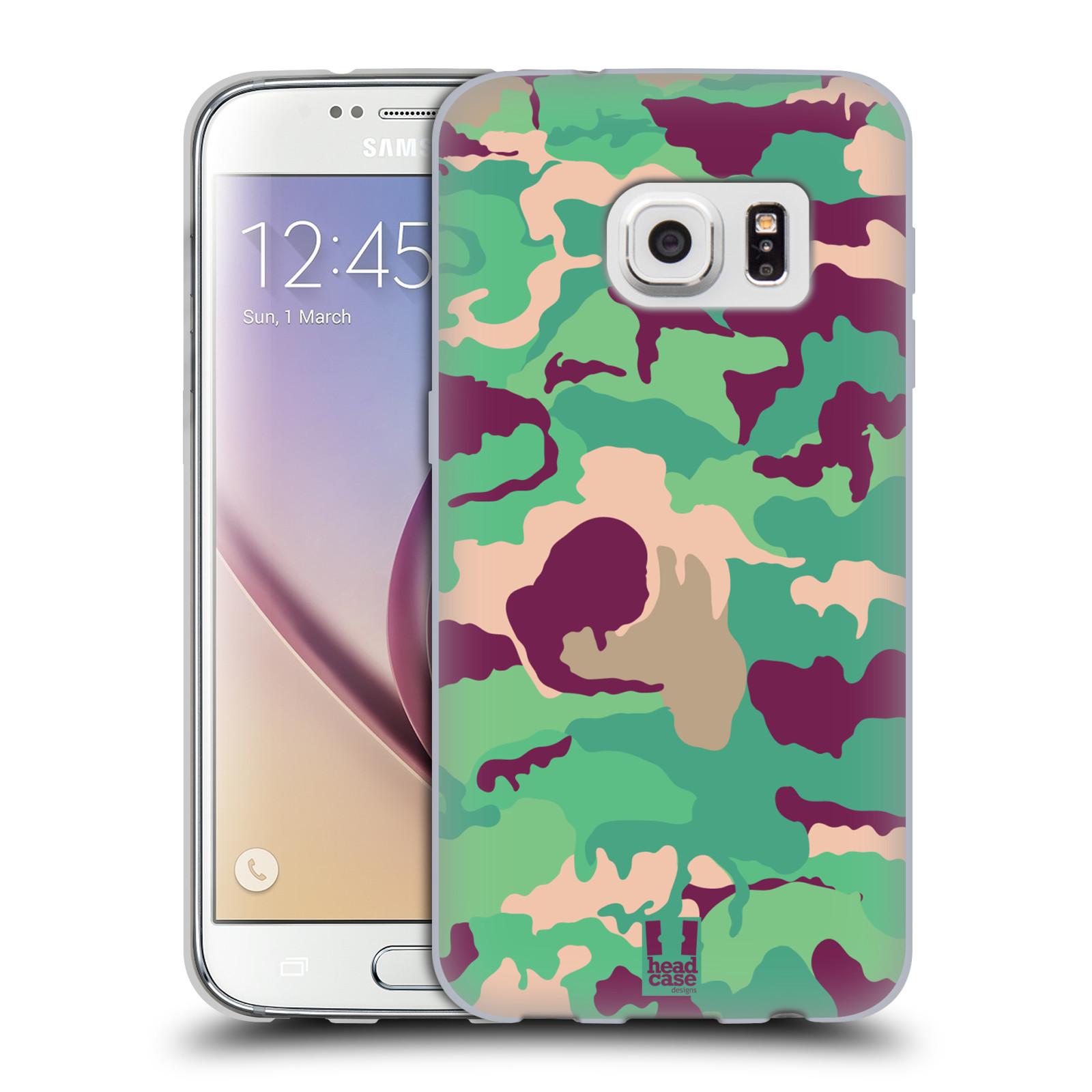HEAD CASE silikonový obal na mobil Samsung Galaxy S7 vzor Barevná kamufláž VOJENSKÁ