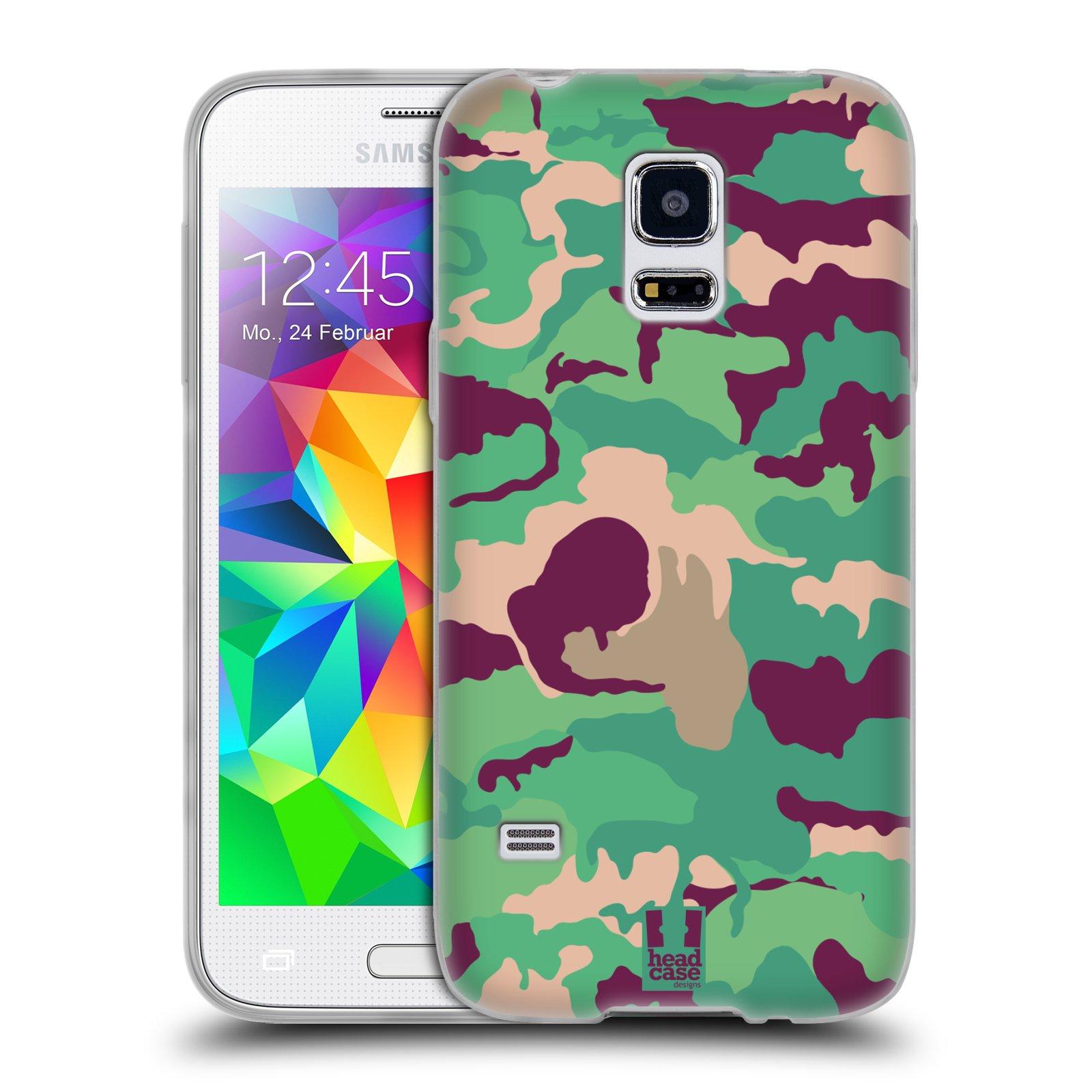 HEAD CASE silikonový obal na mobil Samsung Galaxy S5 MINI vzor Barevná kamufláž VOJENSKÁ