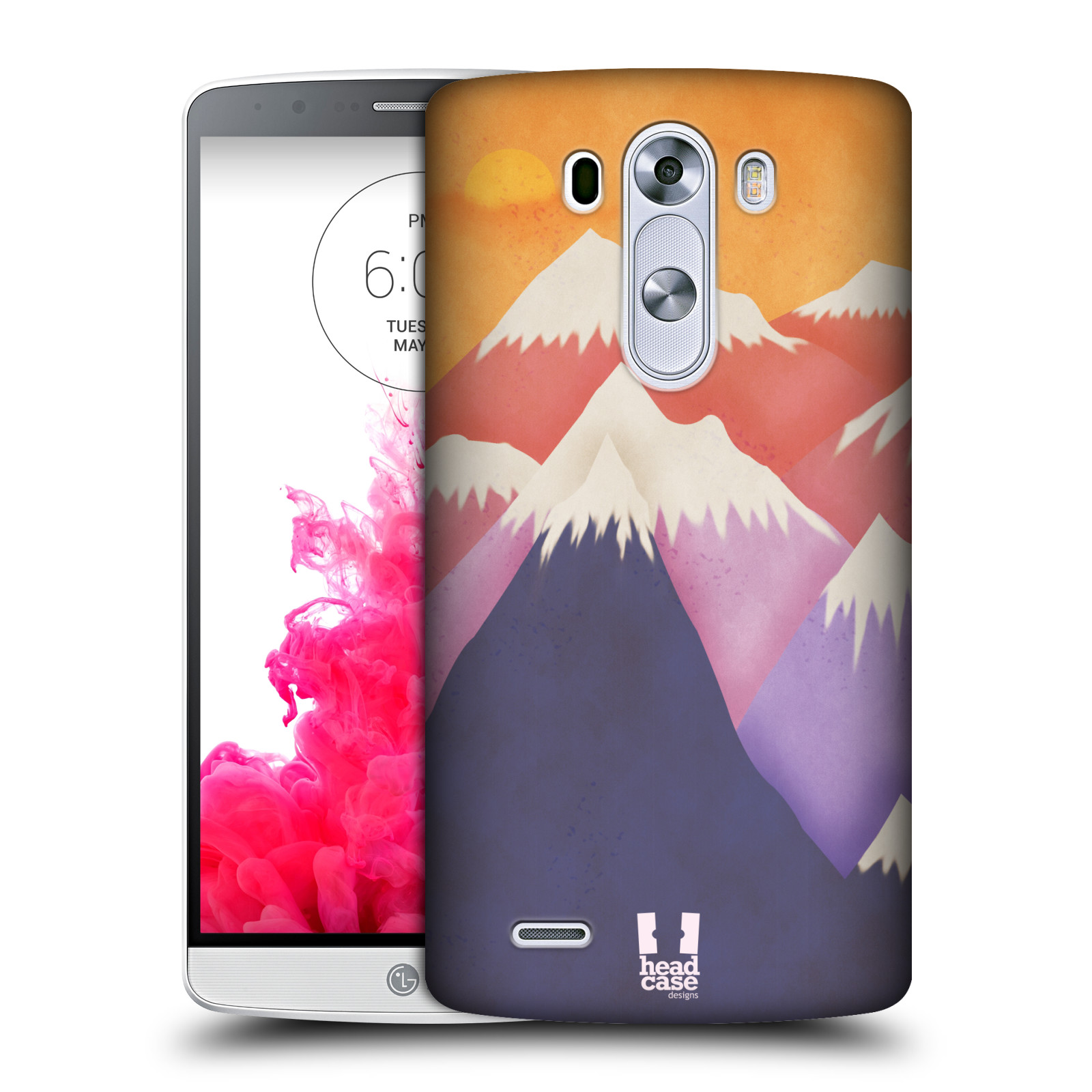 HEAD CASE DESIGNS COLOURFUL MOUNTAINS HARD BACK CASE FOR LG PHONES 1