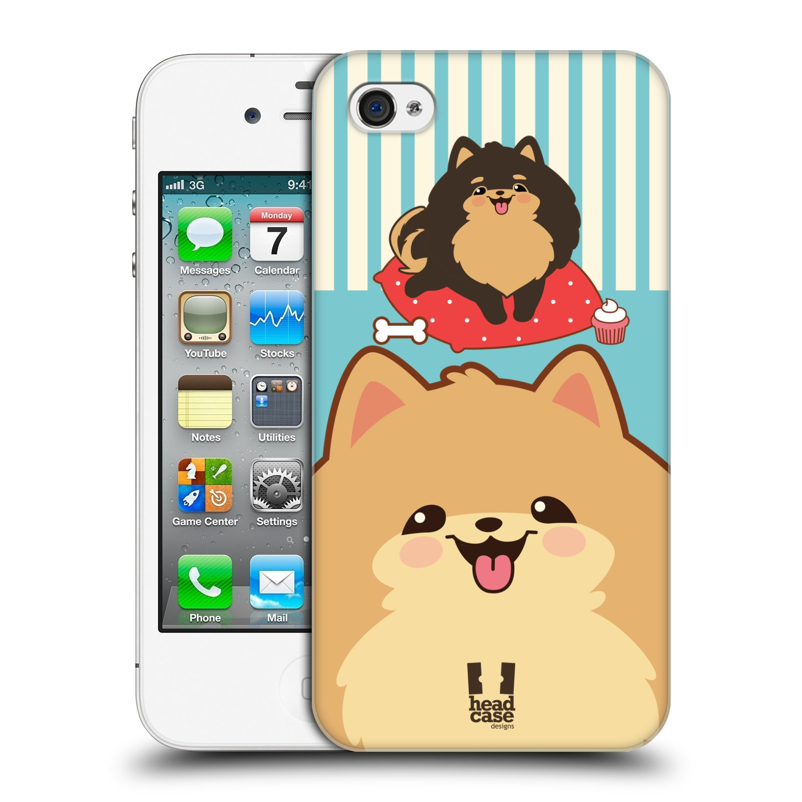 HEAD CASE DESIGNS COCO POM HARD BACK CASE FOR APPLE iPHONE 4