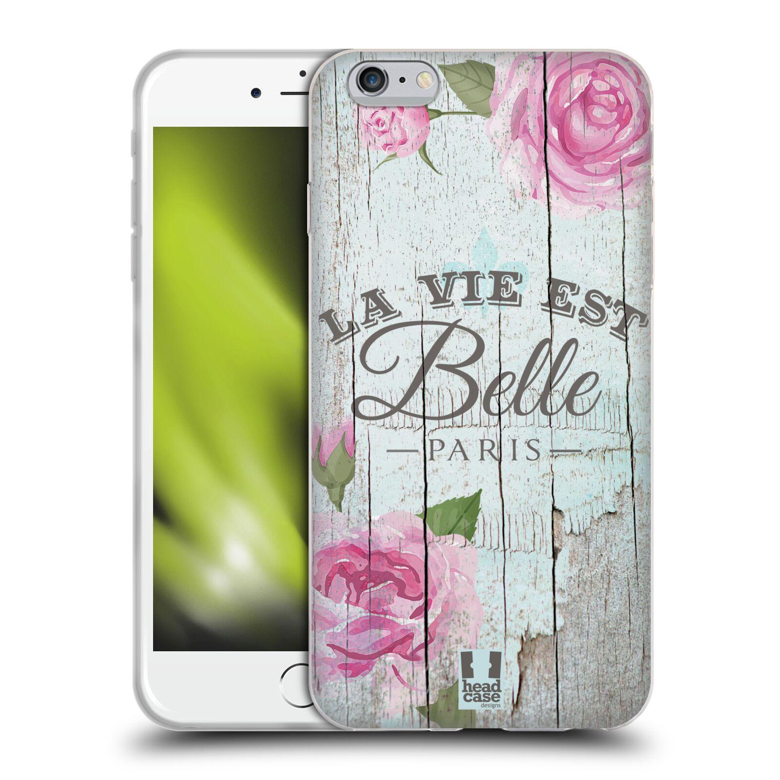 HEAD CASE silikonový obal na mobil Apple Iphone 6 PLUS/ 6S PLUS vzor Barevný venkov, vintage RŮŽE, ŘŮŽOVÁ