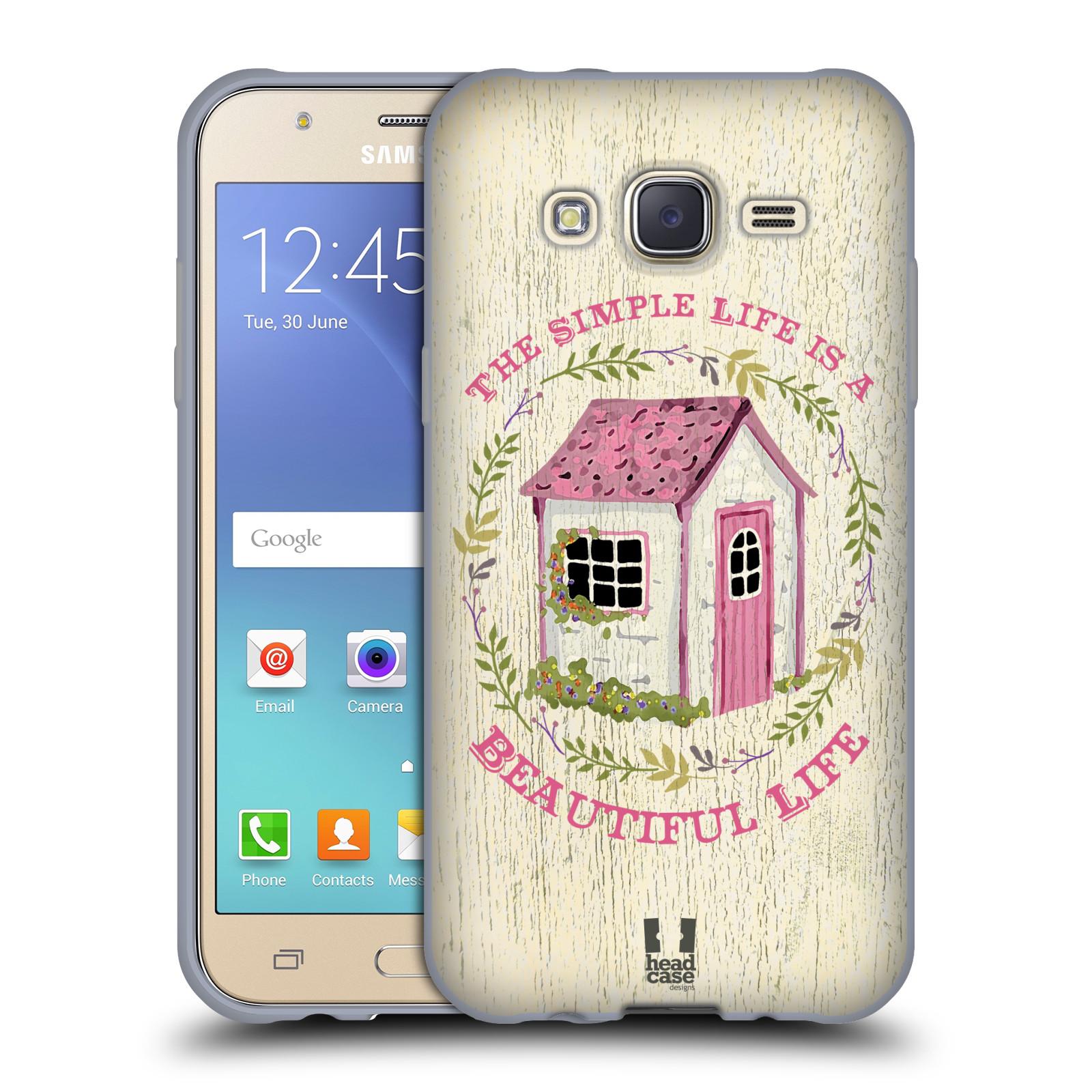 Head Case Silikonov Obal Na Mobil Samsung Galaxy J5 J500 Duos Vzor Barevn Venkov Vintage Rov Chatika