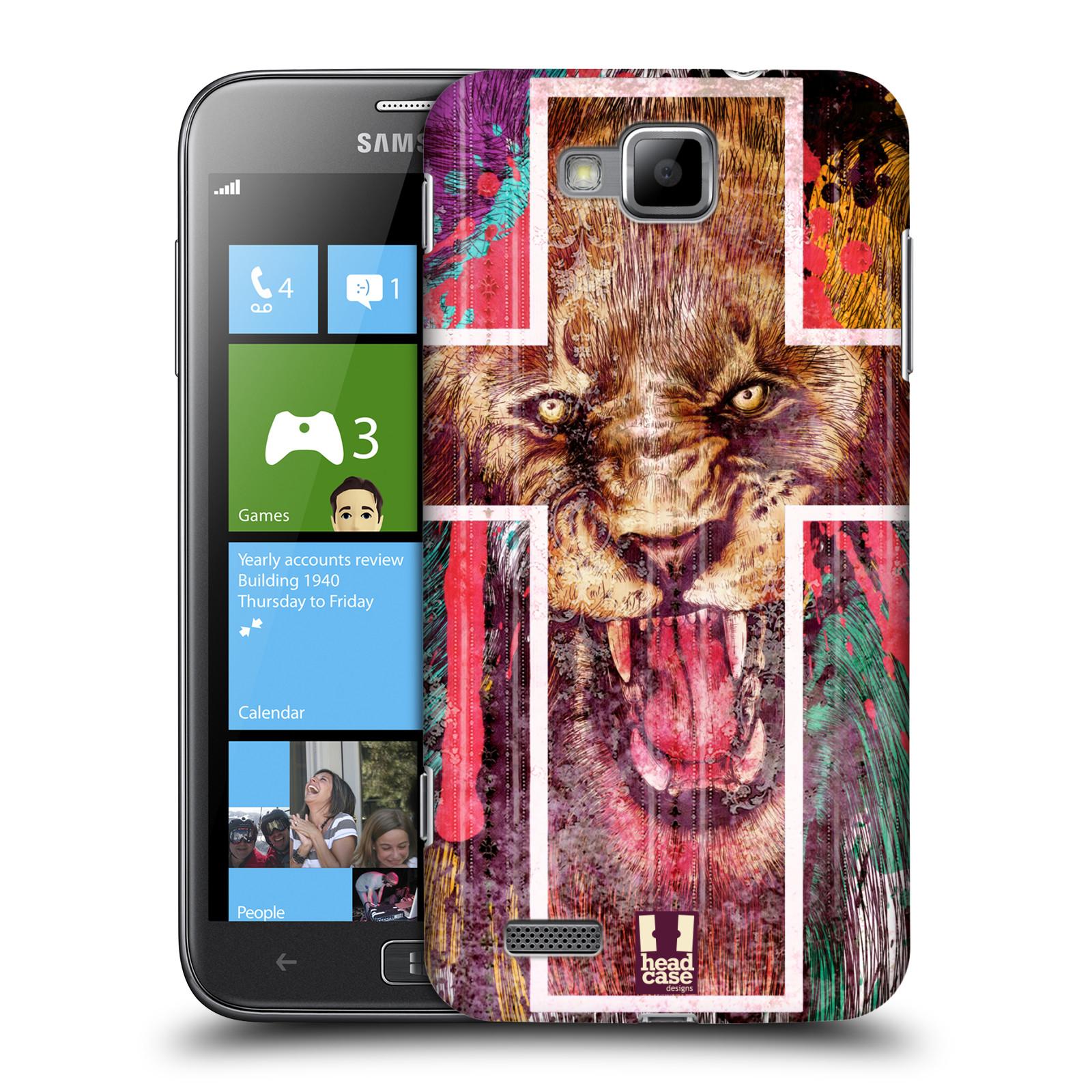 HEAD CASE plastový obal na mobil Samsung ATIV S vzor Kříž a lev