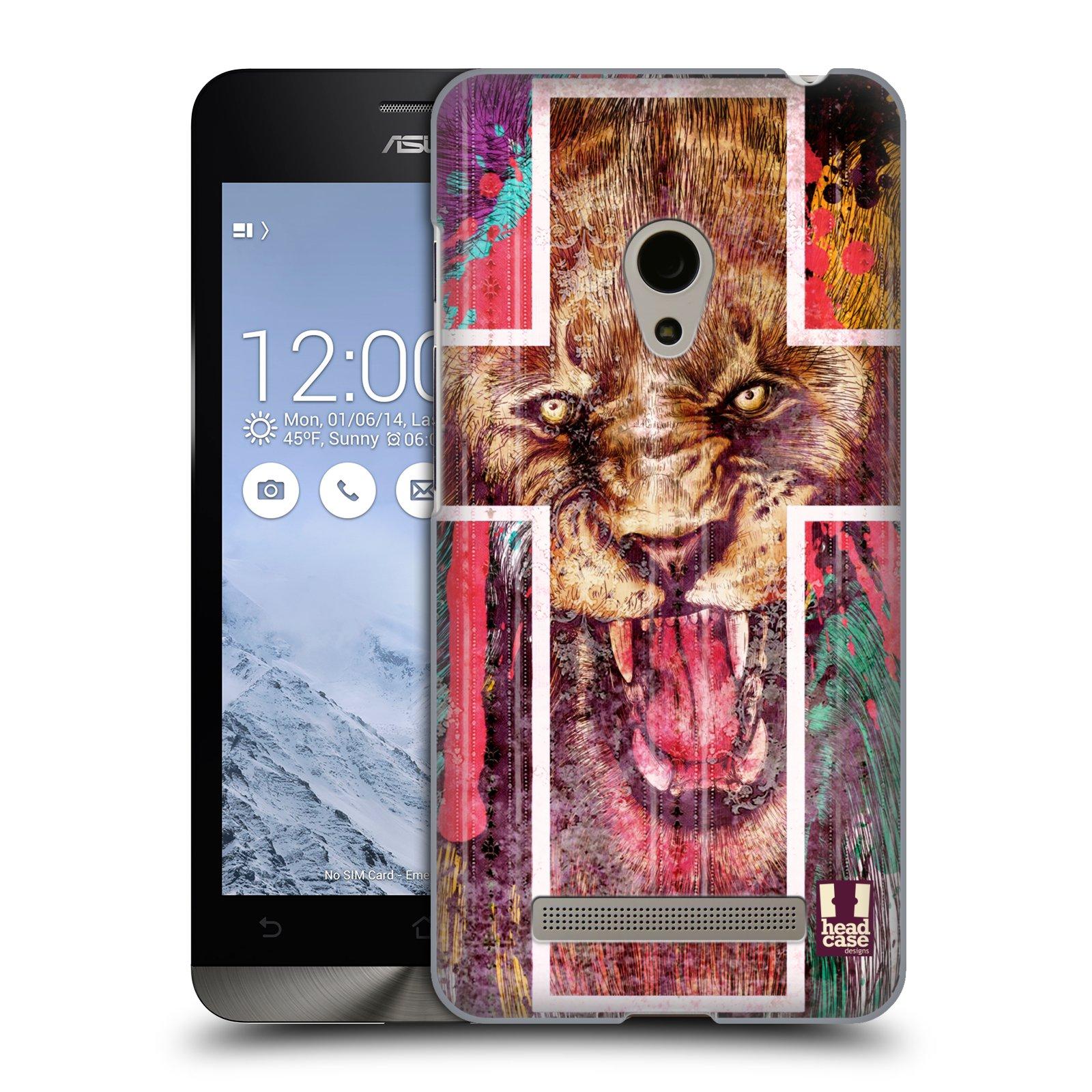 HEAD CASE plastový obal na mobil Asus Zenfone 5 vzor Kříž a lev