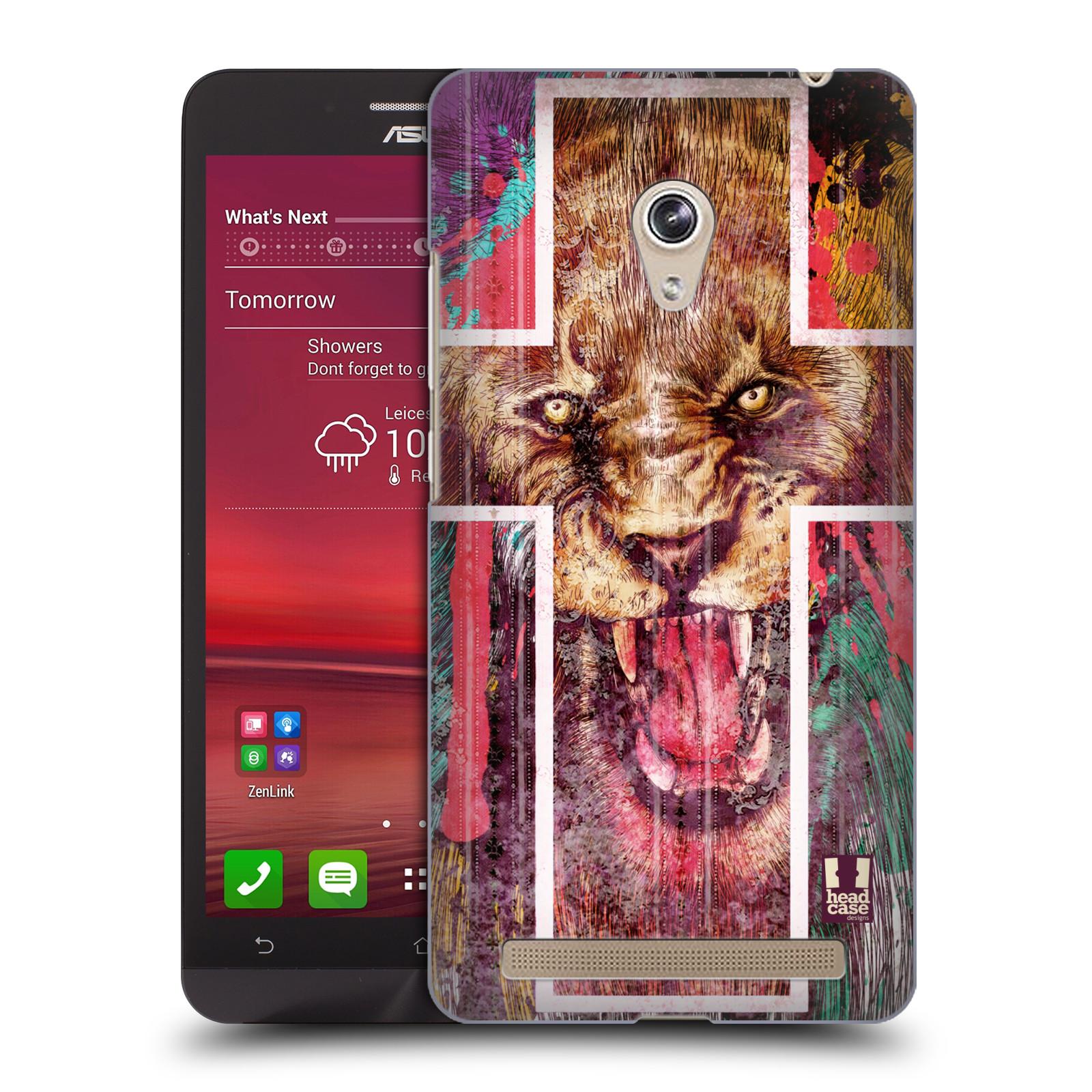 HEAD CASE plastový obal na mobil Asus Zenfone 6 vzor Kříž a lev