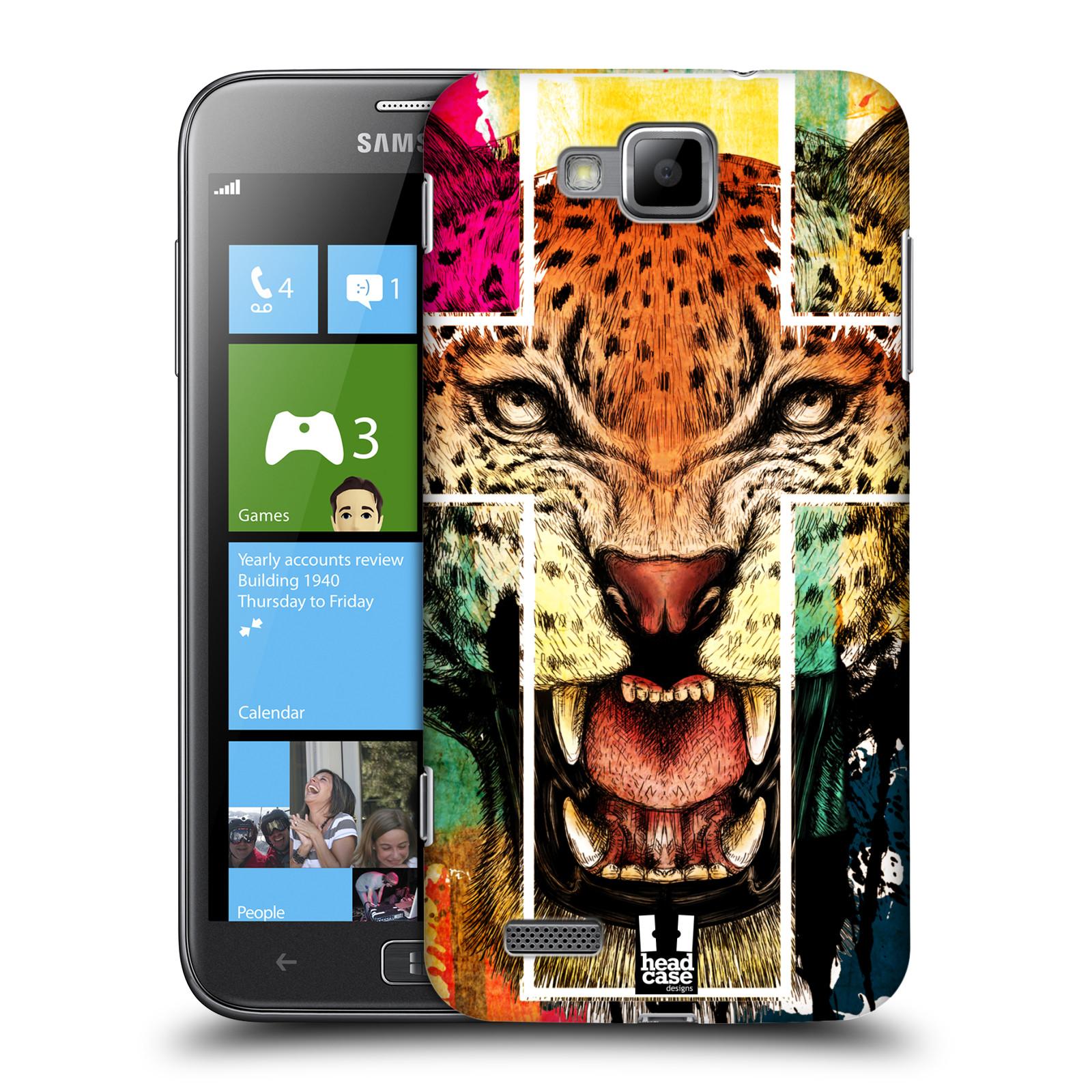 HEAD CASE plastový obal na mobil Samsung ATIV S vzor Kříž a leopard