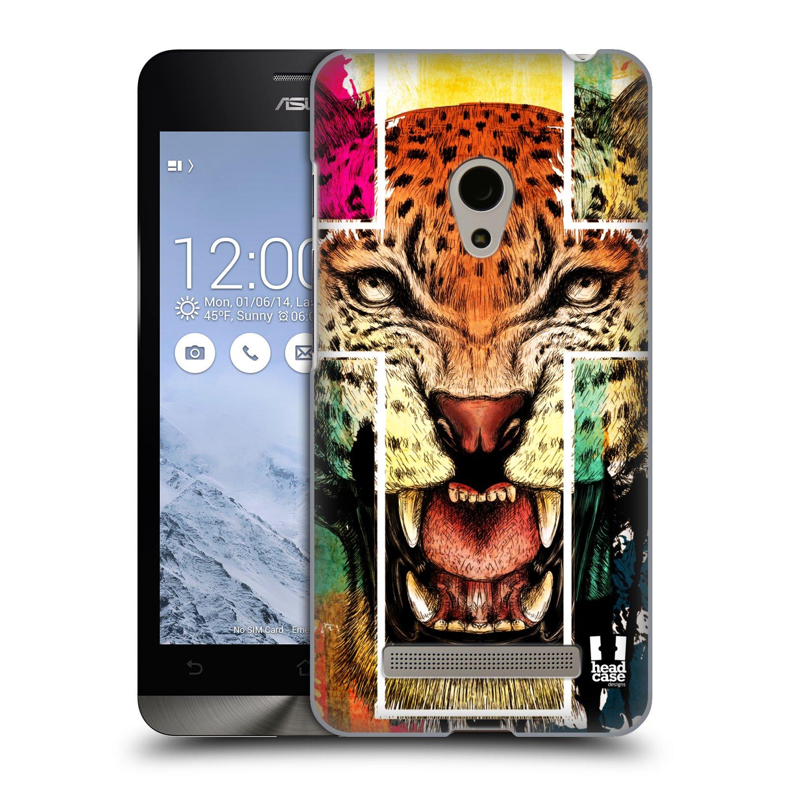HEAD CASE plastový obal na mobil Asus Zenfone 5 vzor Kříž a leopard
