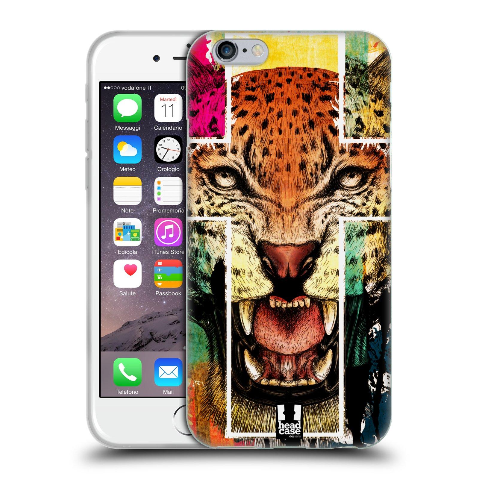 HEAD CASE silikonový obal na mobil Apple Iphone 6/6S vzor Kříž a leopard