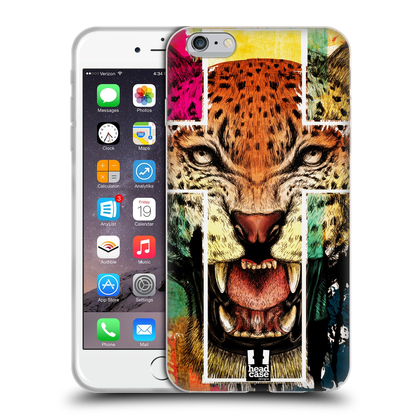 HEAD CASE silikonový obal na mobil Apple Iphone 6 PLUS/ 6S PLUS vzor Kříž a leopard