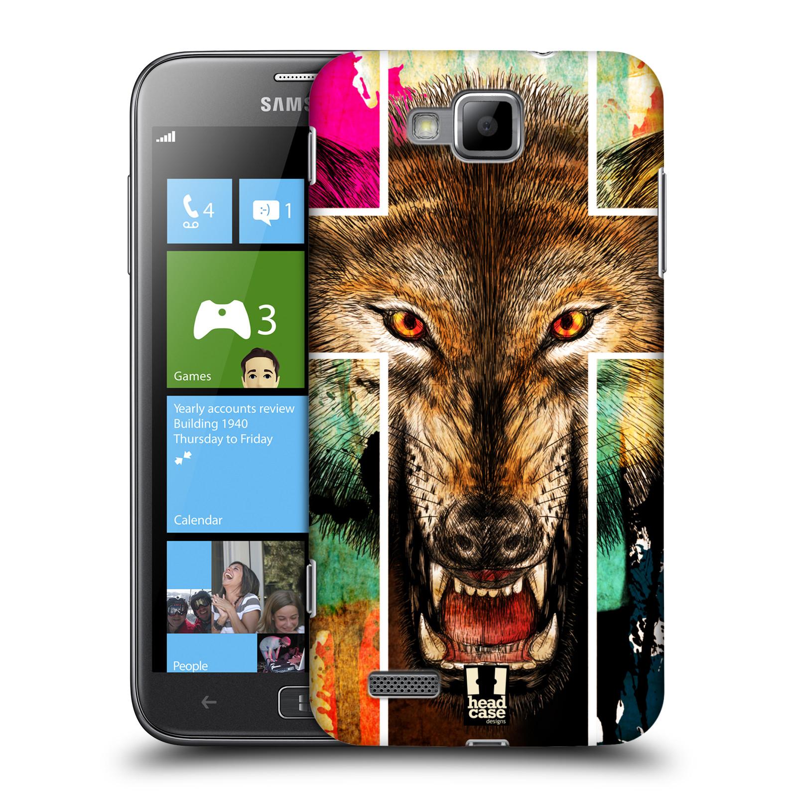 HEAD CASE plastový obal na mobil Samsung ATIV S vzor Kříž a vlk