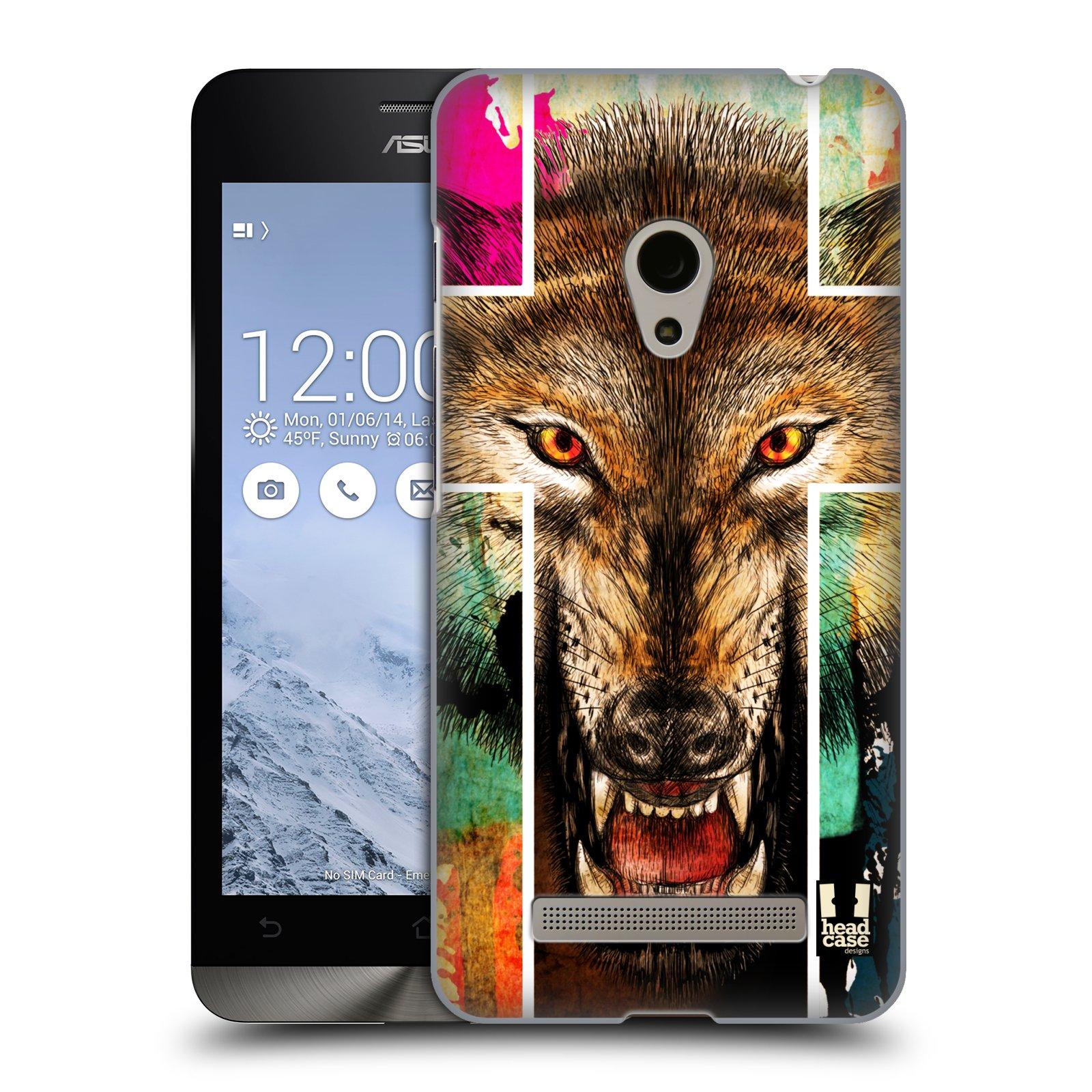 HEAD CASE plastový obal na mobil Asus Zenfone 5 vzor Kříž a vlk
