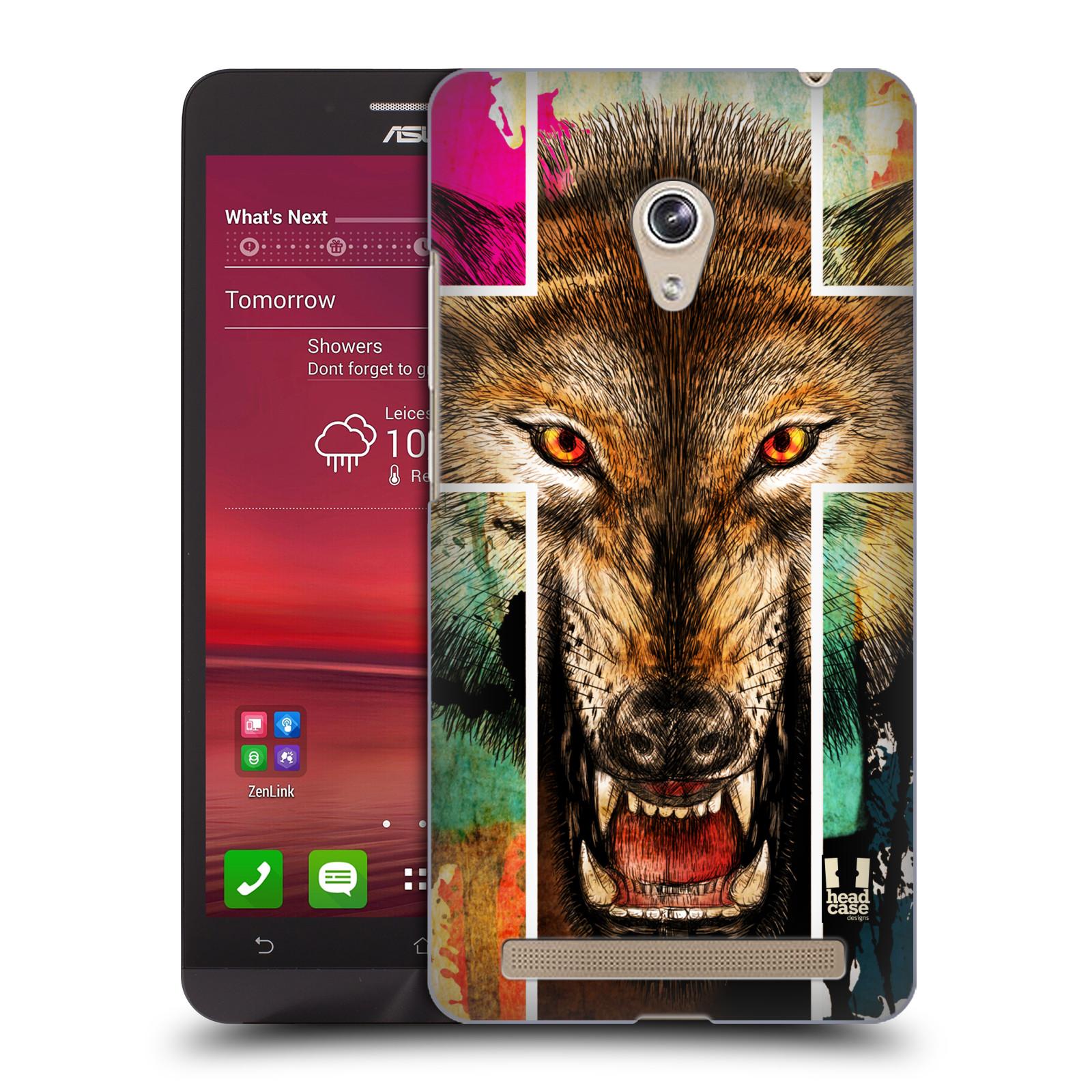 HEAD CASE plastový obal na mobil Asus Zenfone 6 vzor Kříž a vlk