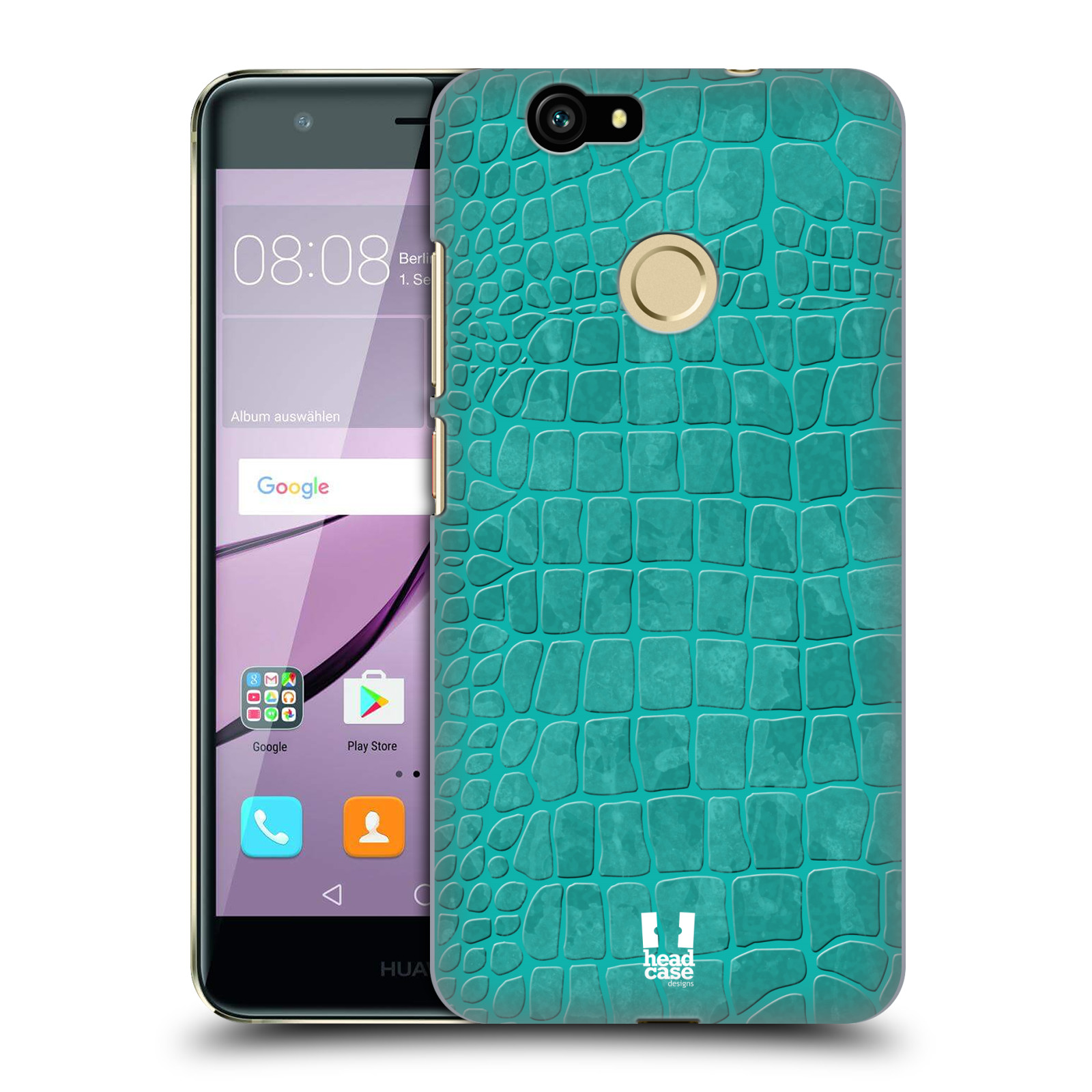 HEAD-CASE-DESIGNS-CROCODILE-SKIN-PATTERN-HARD-BACK-CASE-FOR-HUAWEI-NOVA