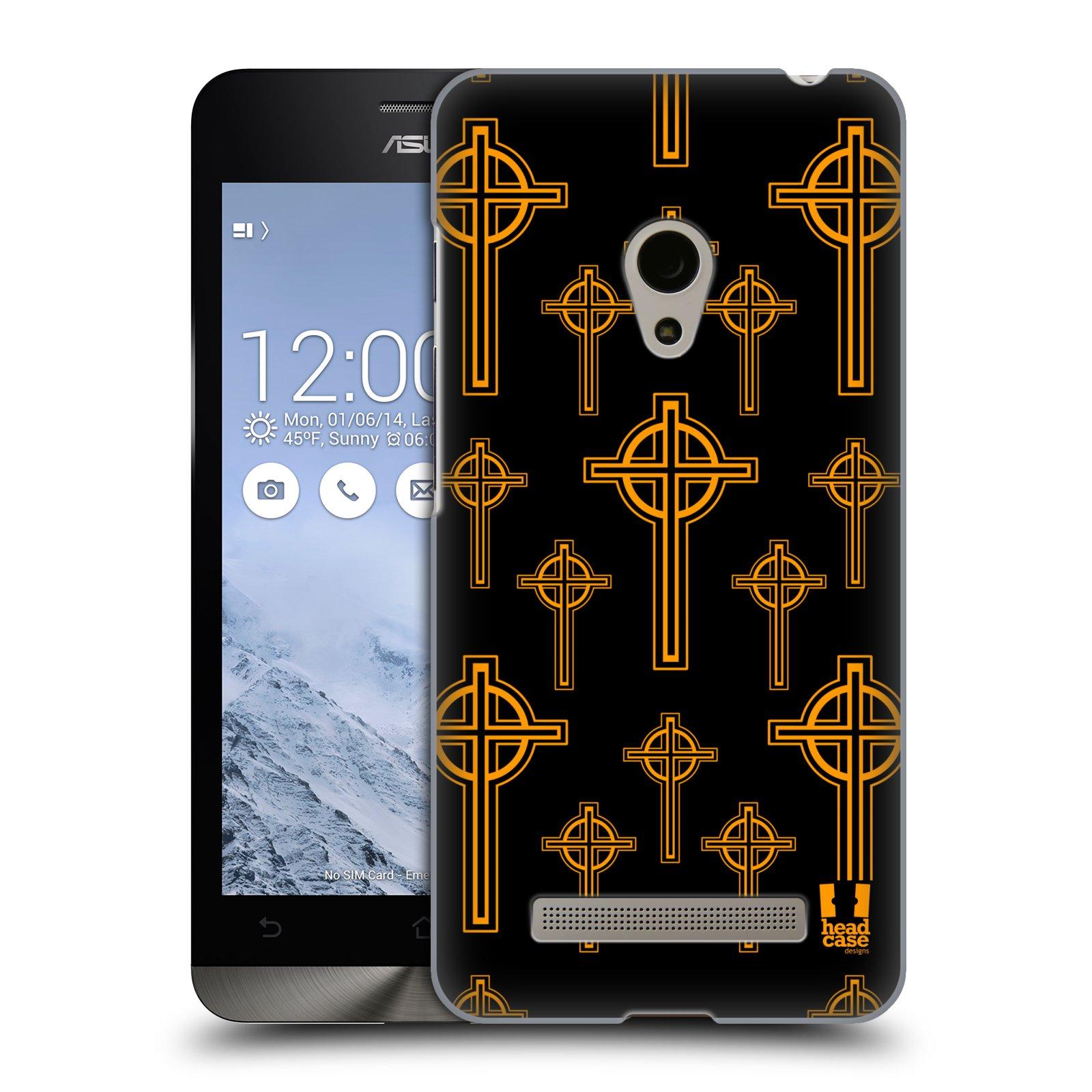 HEAD CASE plastový obal na mobil Asus Zenfone 5 vzor Kříž Cross KELTSKÝ KŘÍŽ