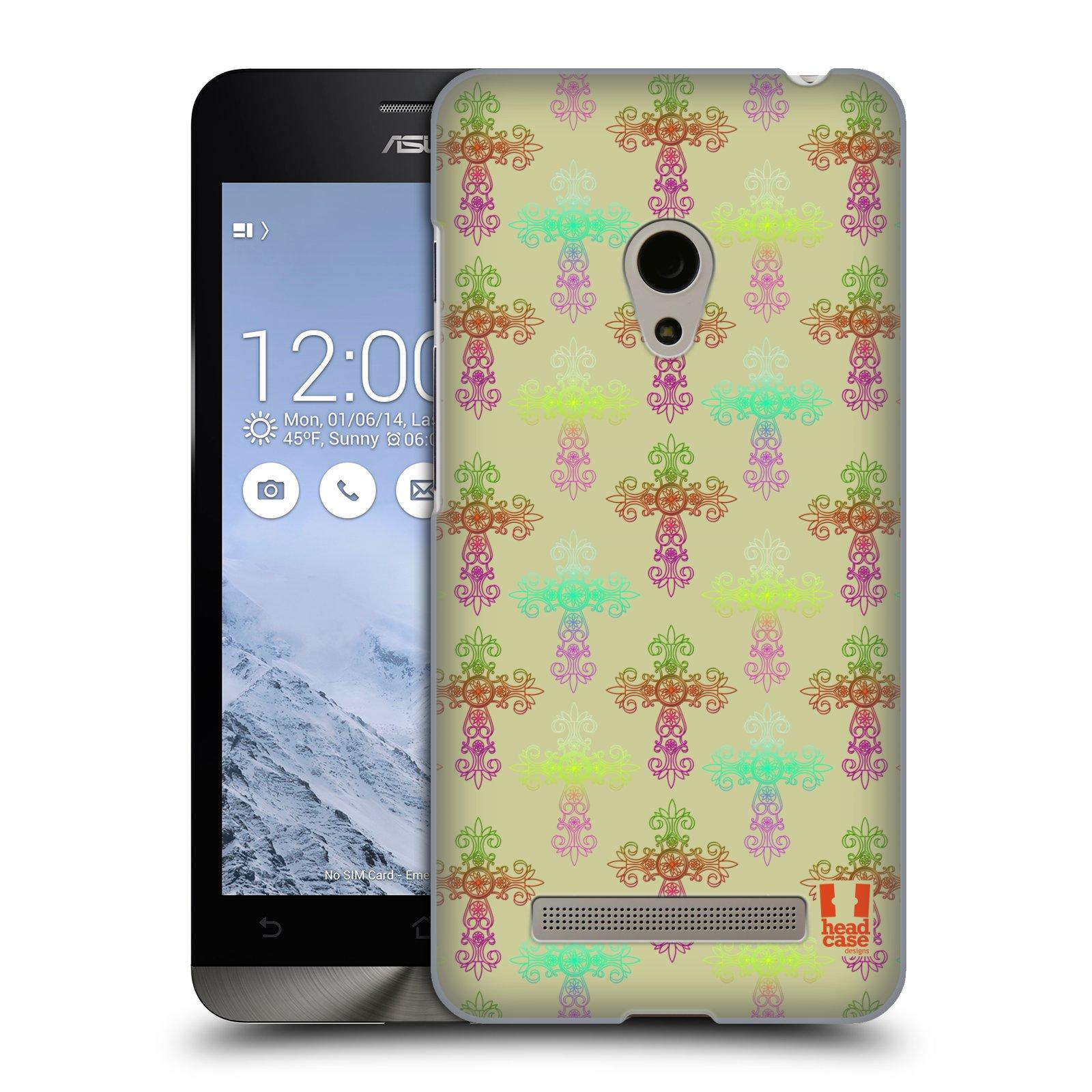 HEAD CASE plastový obal na mobil Asus Zenfone 5 vzor Kříž Cross DAMASK