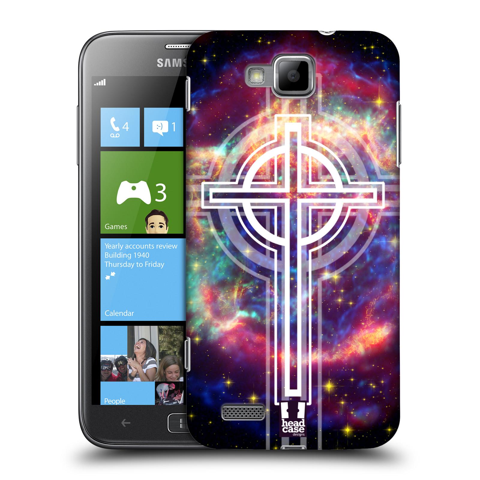HEAD CASE plastový obal na mobil Samsung ATIV S vzor Kříž Cross KŘIŽ VESMÍR