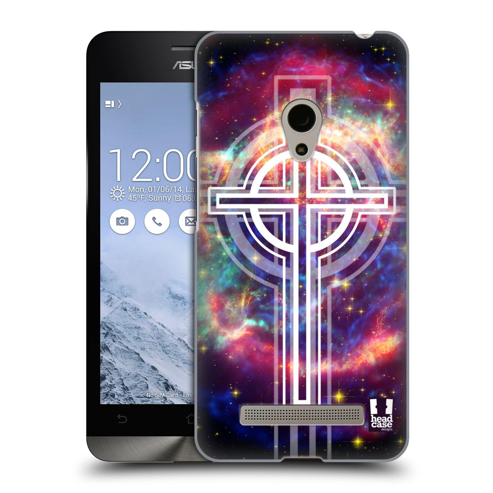 HEAD CASE plastový obal na mobil Asus Zenfone 5 vzor Kříž Cross KŘIŽ VESMÍR