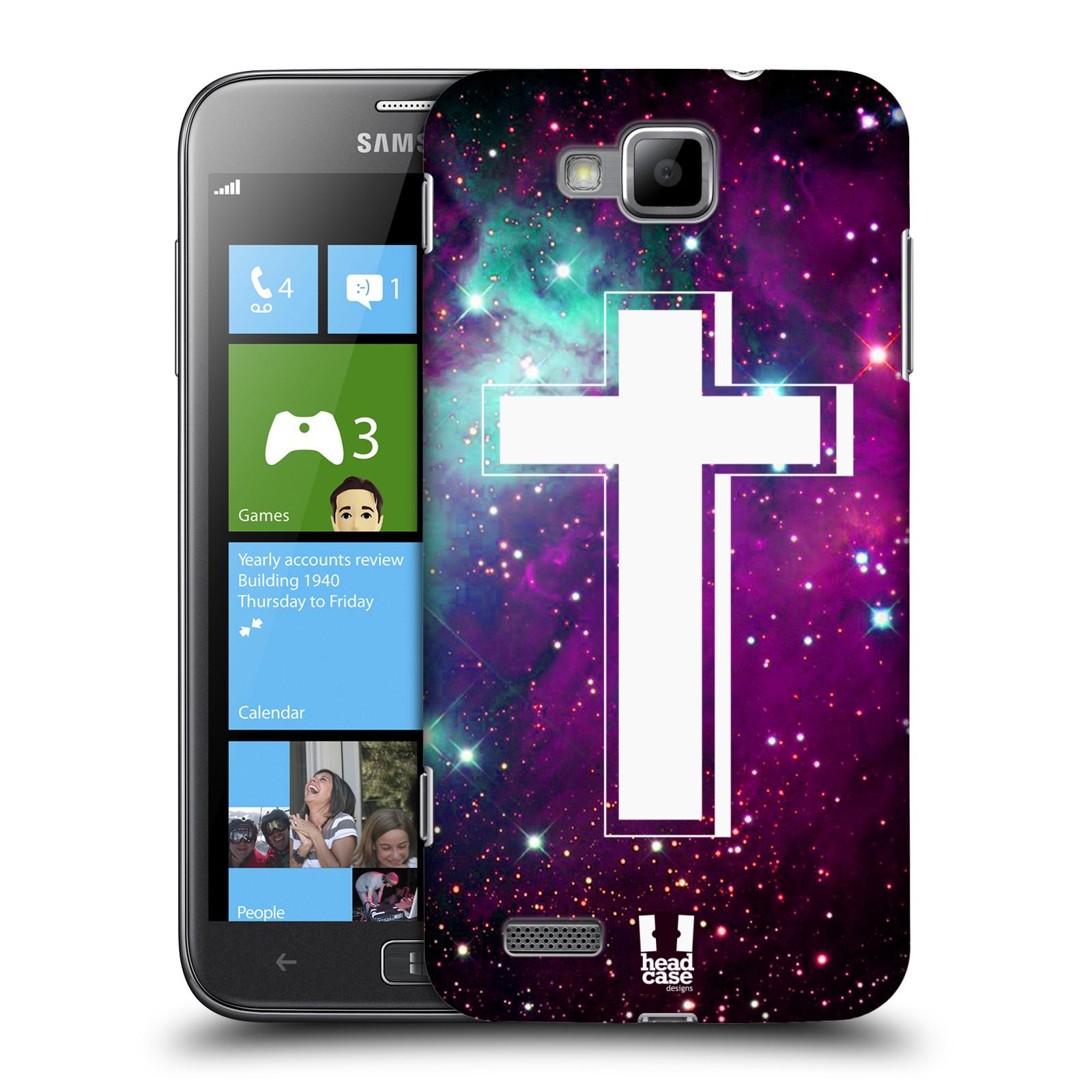 HEAD CASE plastový obal na mobil Samsung ATIV S vzor Kříž Cross MLHOVINA FIALOVÁ