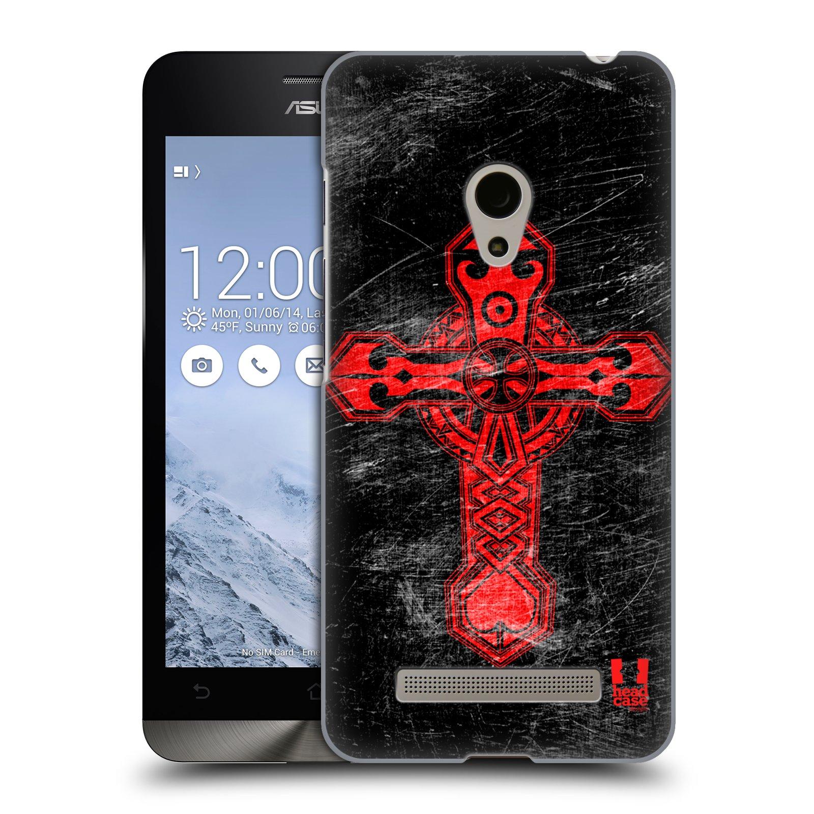 HEAD CASE plastový obal na mobil Asus Zenfone 5 vzor Kříž Cross TRIBAL ČERVENÁ