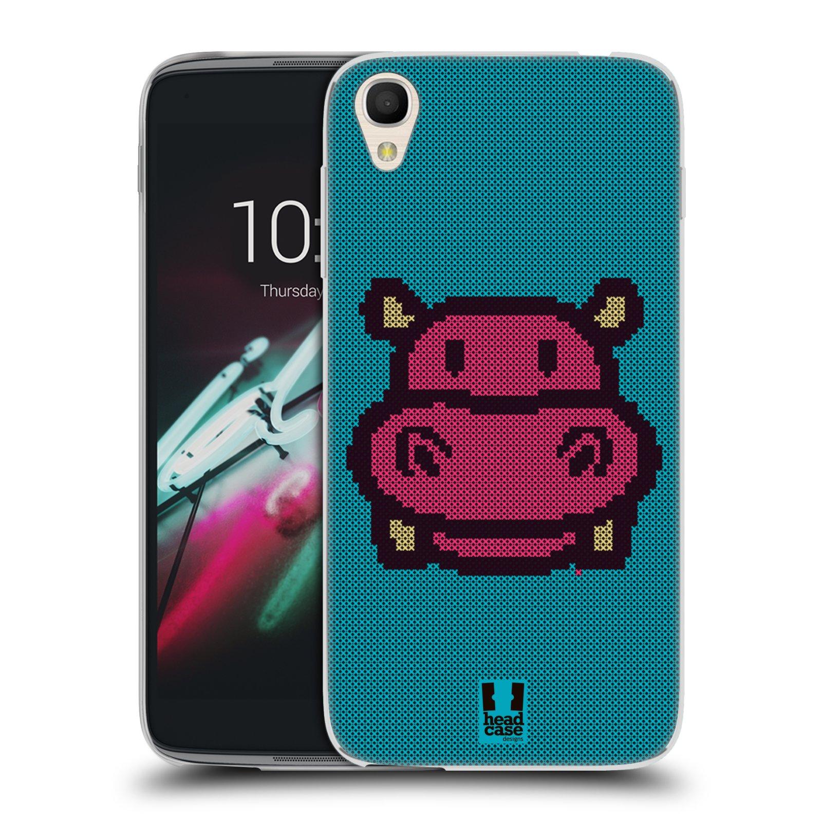 HEAD CASE silikonový obal na mobil Alcatel Idol 3 OT-6039Y (4.7) vzor kostičky zvířátka HROŠÍK