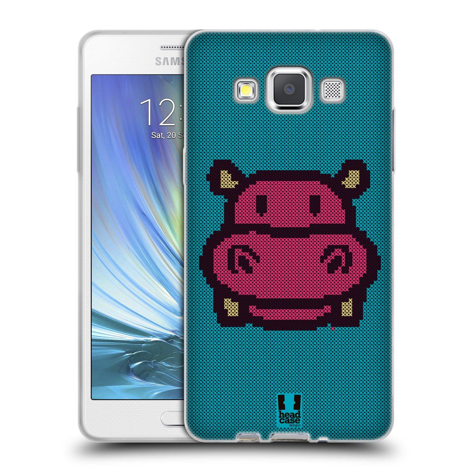 HEAD CASE silikonový obal na mobil Samsung Galaxy A5 vzor kostičky zvířátka HROŠÍK