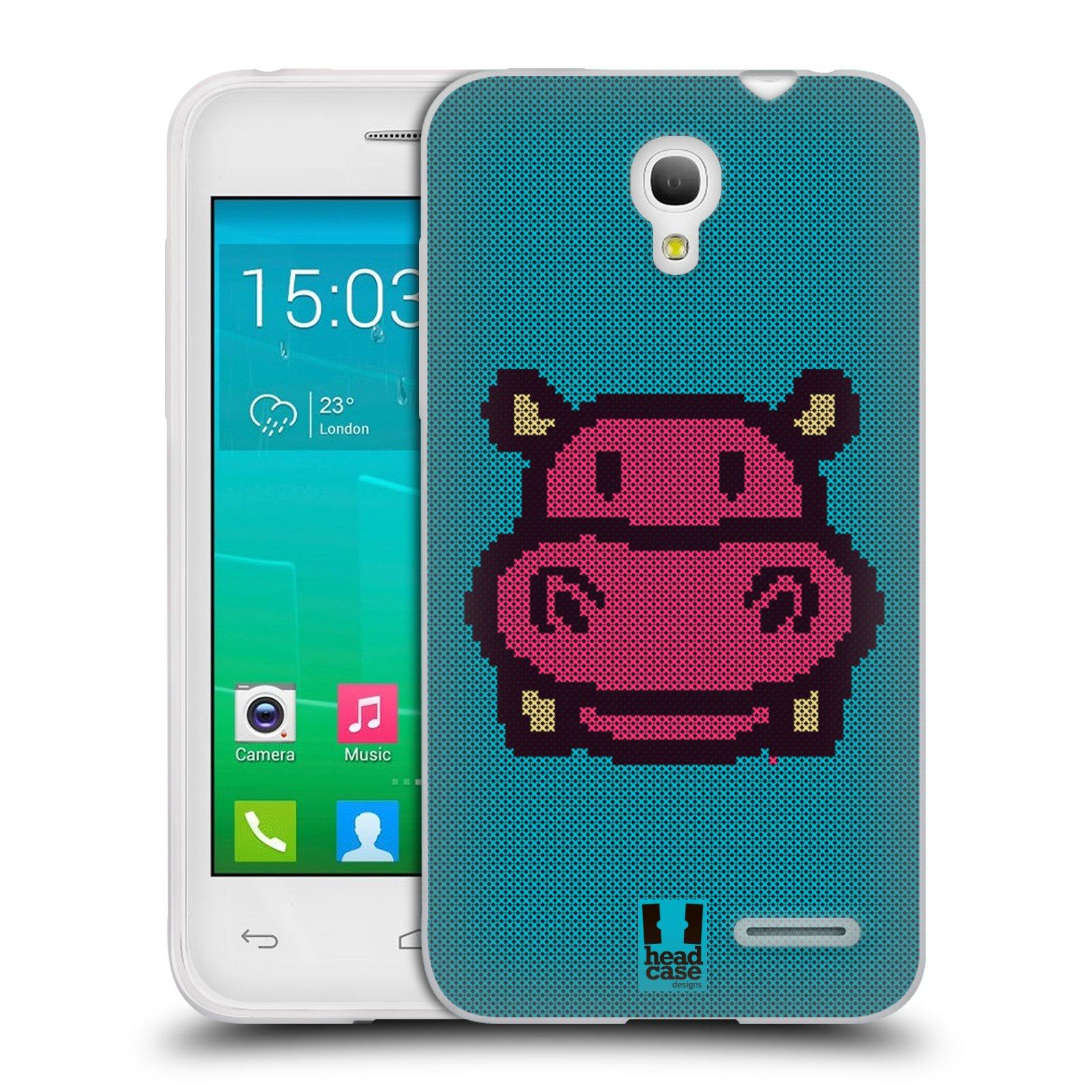 HEAD CASE silikonový obal na mobil Alcatel POP S3 OT-5050Y vzor kostičky zvířátka HROŠÍK