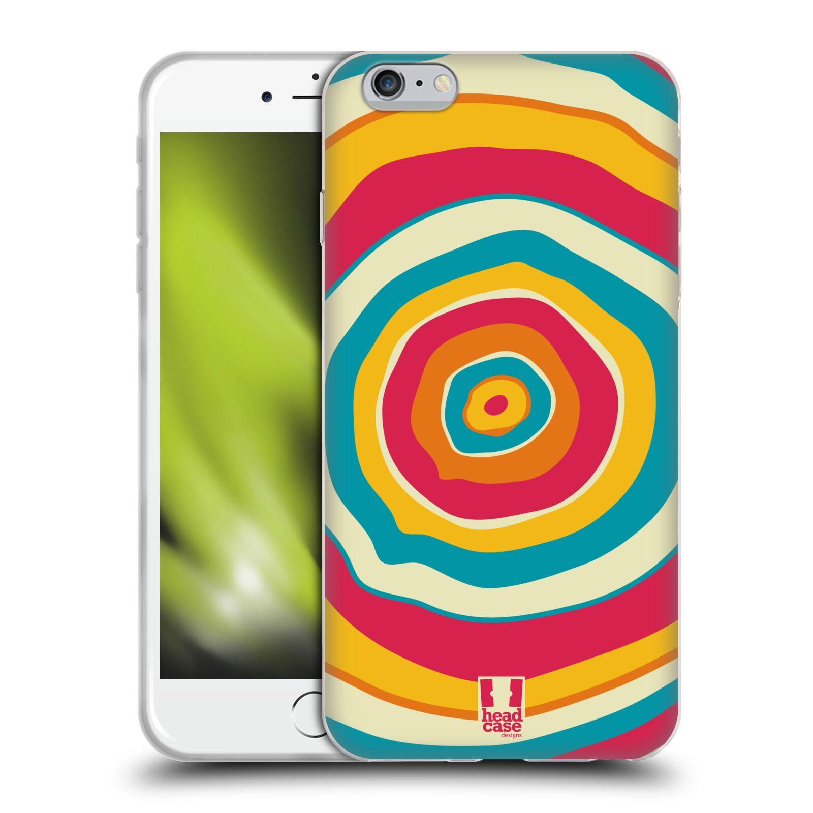 HEAD CASE silikonový obal na mobil Apple Iphone 6 PLUS/ 6S PLUS vzor Barevné letokruhy PLAYFUL